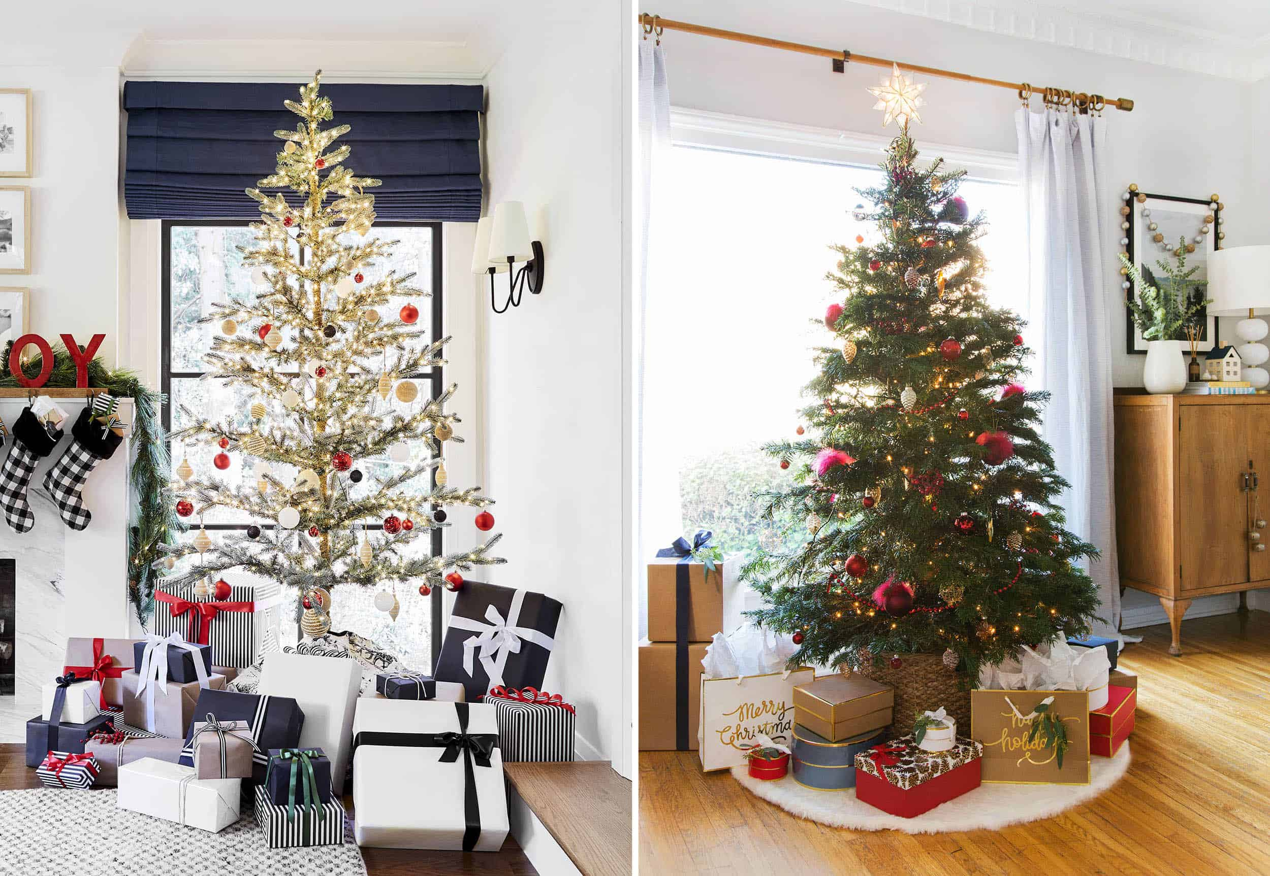 Emily Henderson Holiday Vignettes Traditional Tree