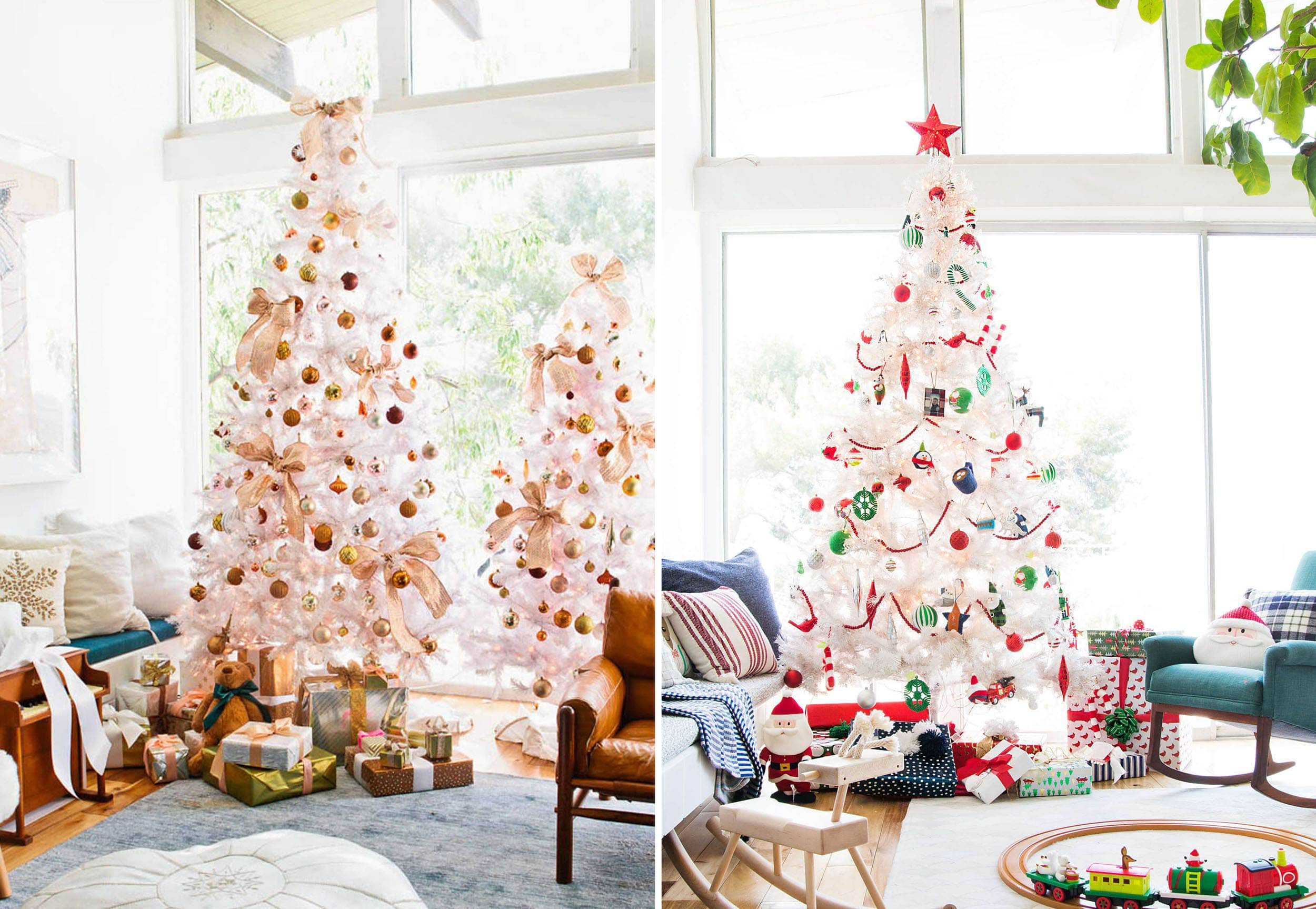 Emily Henderson Holiday Vignettes White Tree