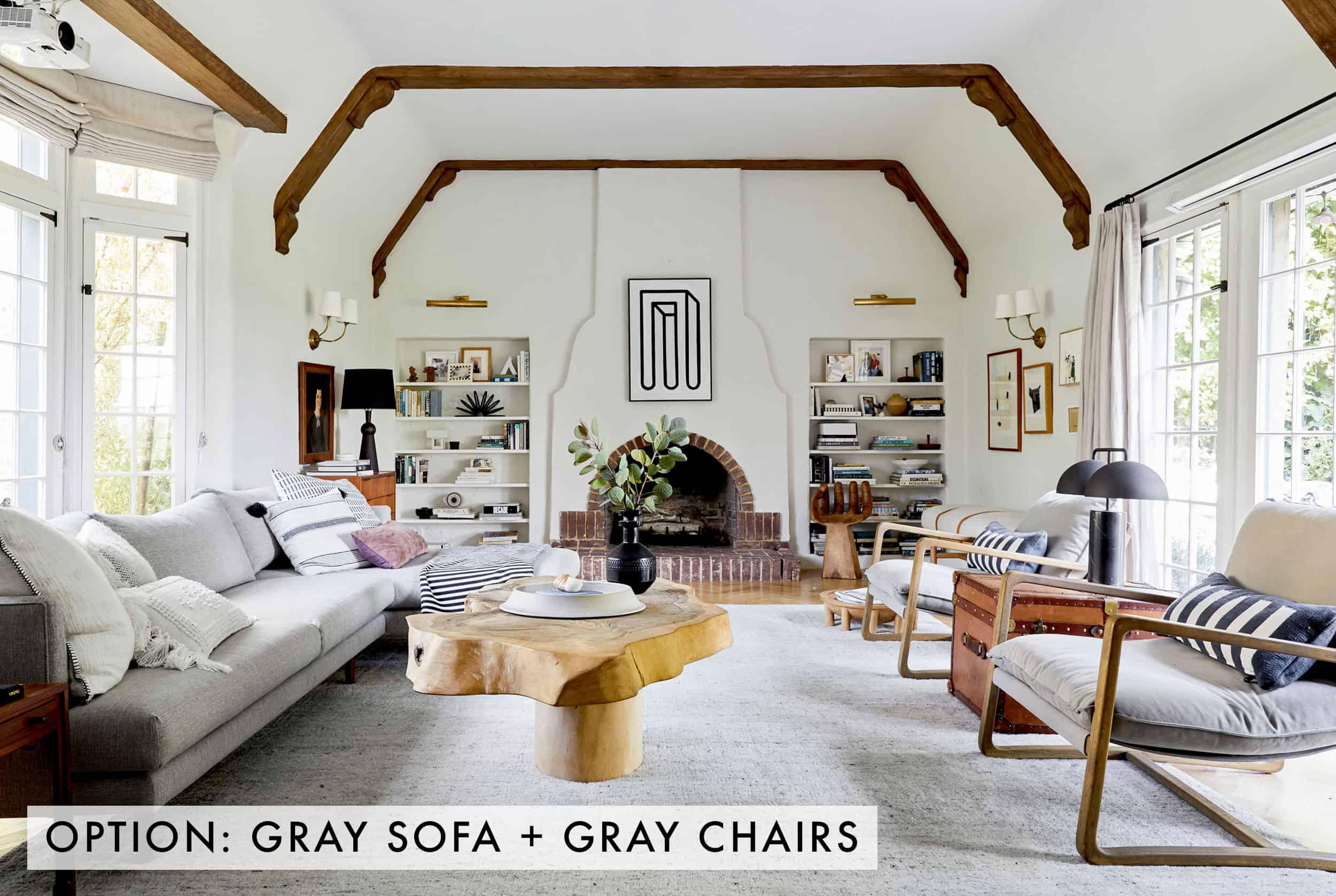 Gray Sofa + Gray Chairs