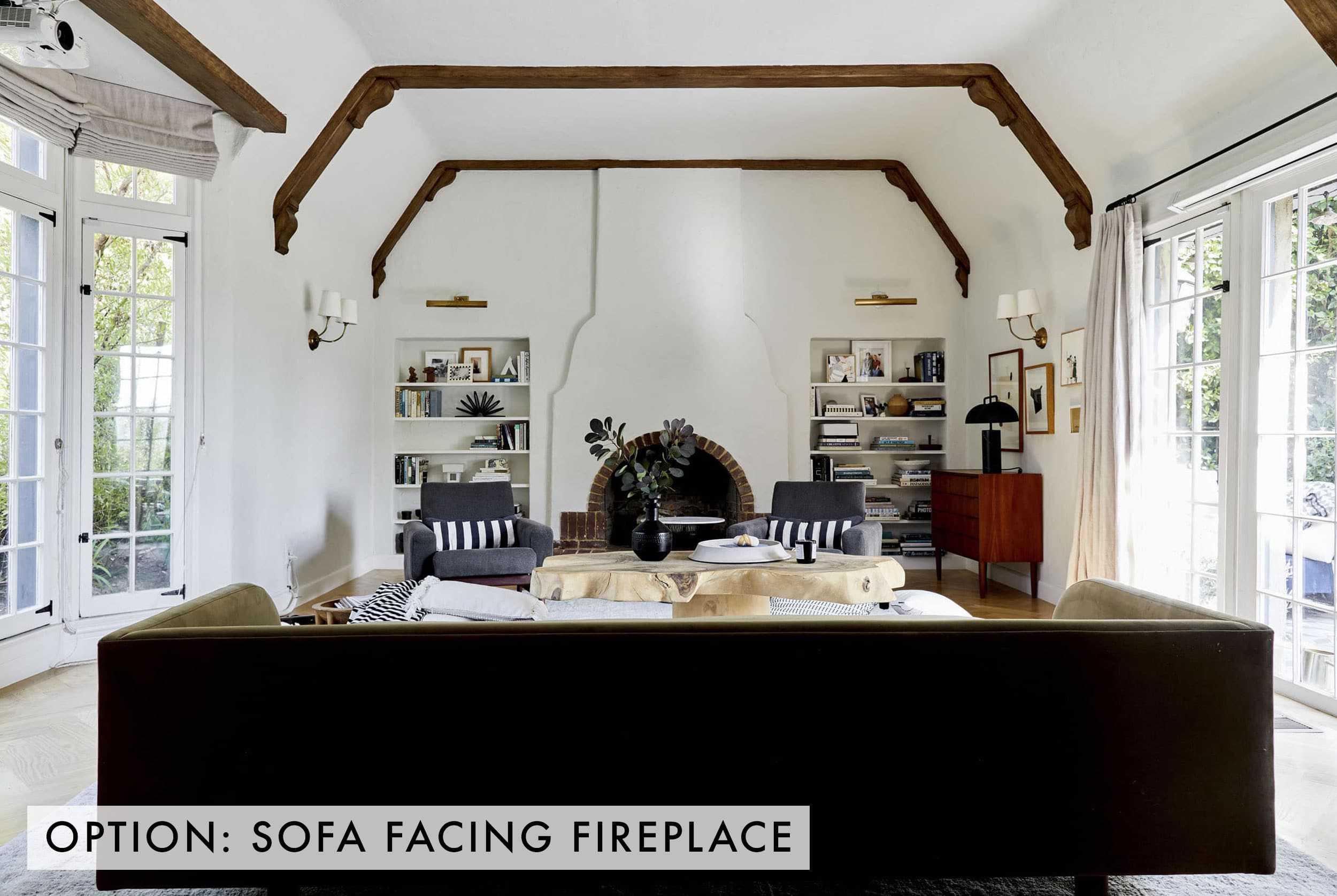 Sofa Facing Fireplace