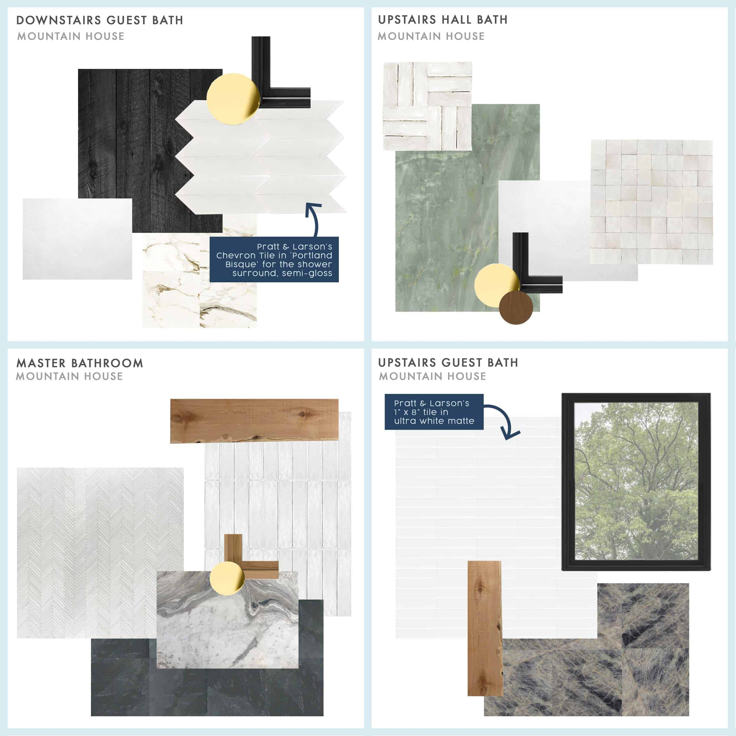 Tile Selection Mountain House Moodboard