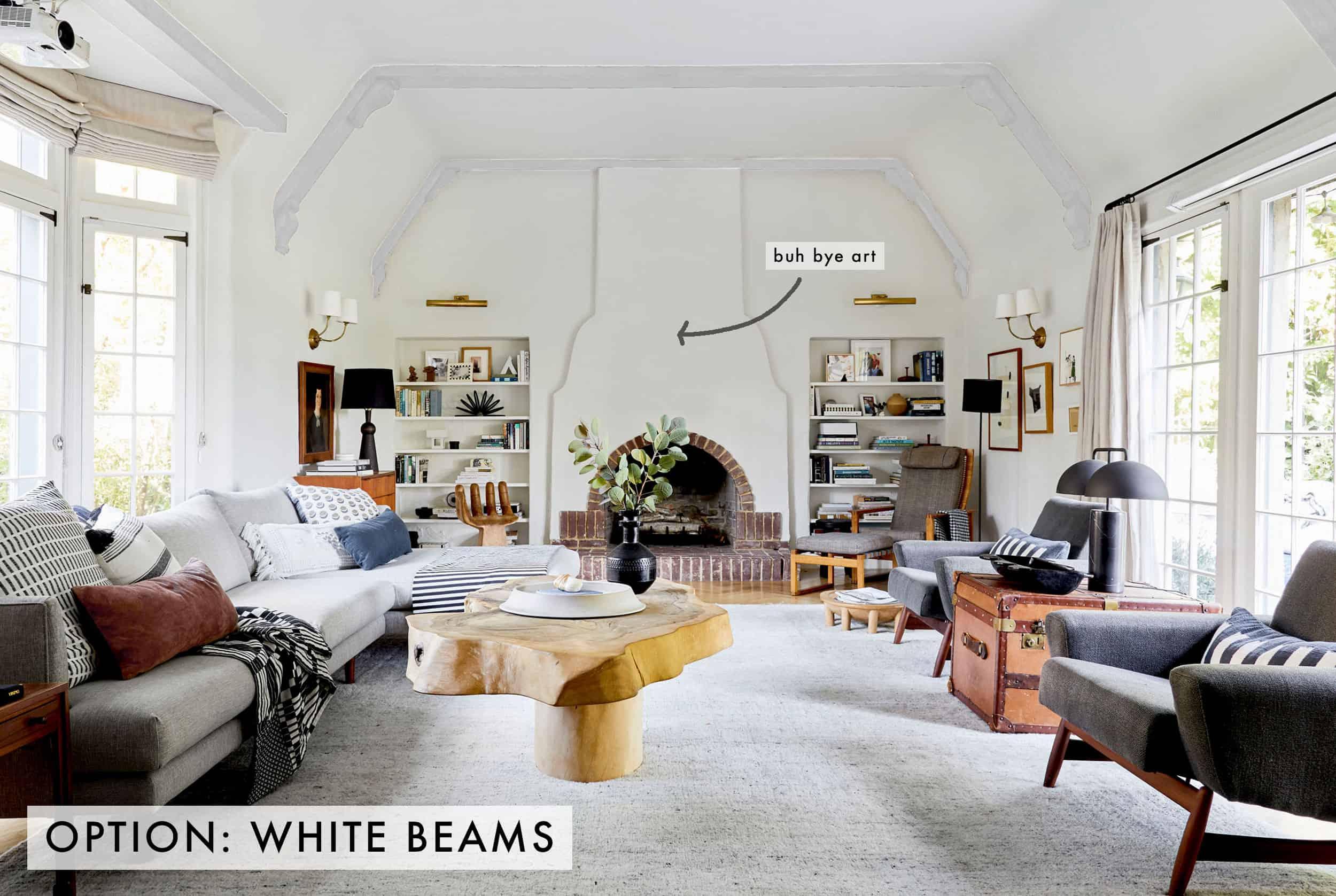 White Beams No Art