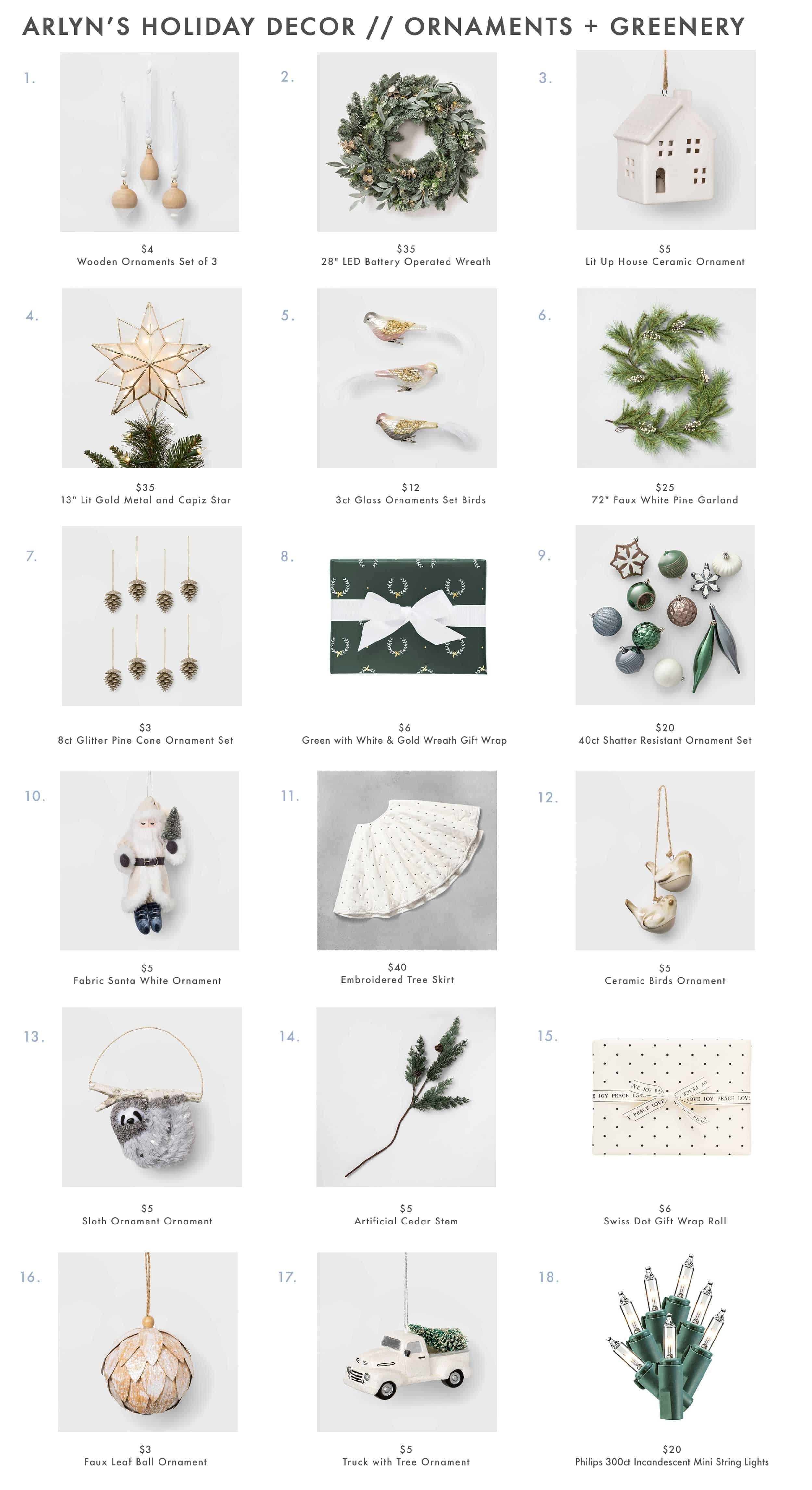 Arlyn's Holiday Decor Ornaments Greenery