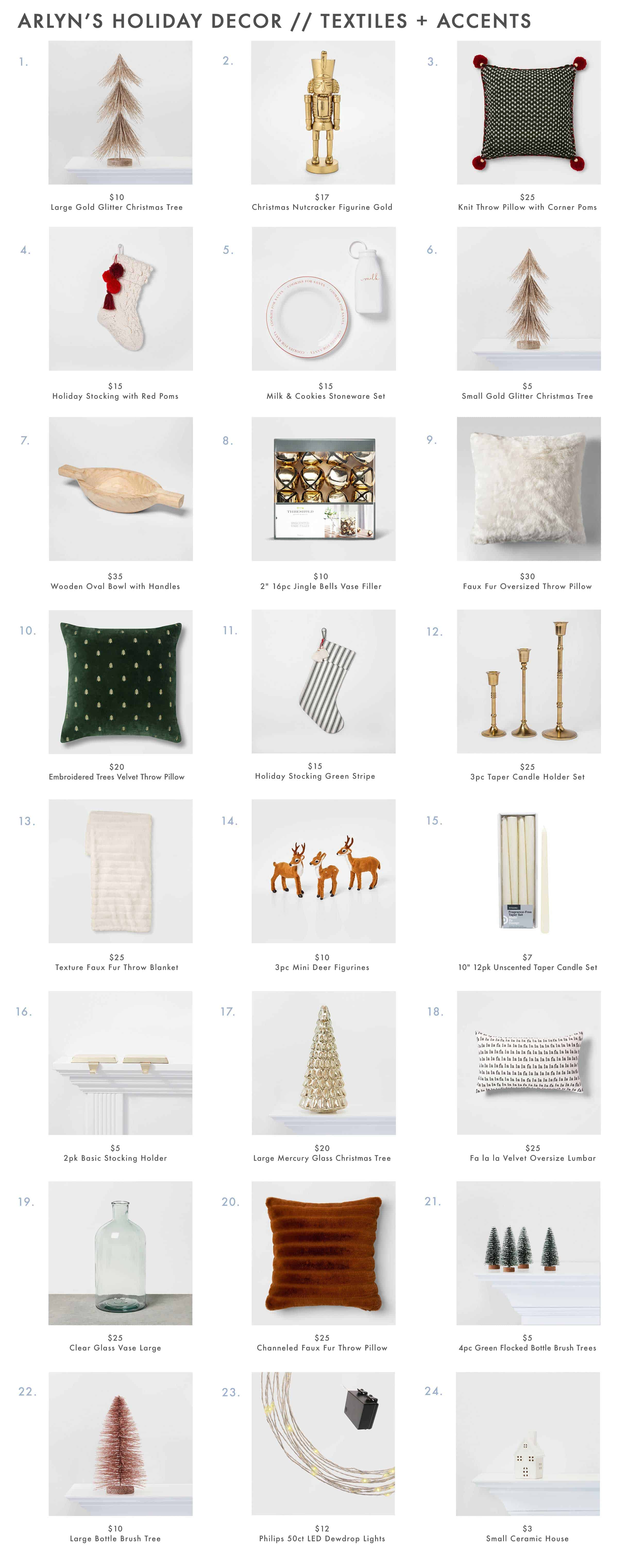 Arlyn's Holiday Decor Textiles And Accents