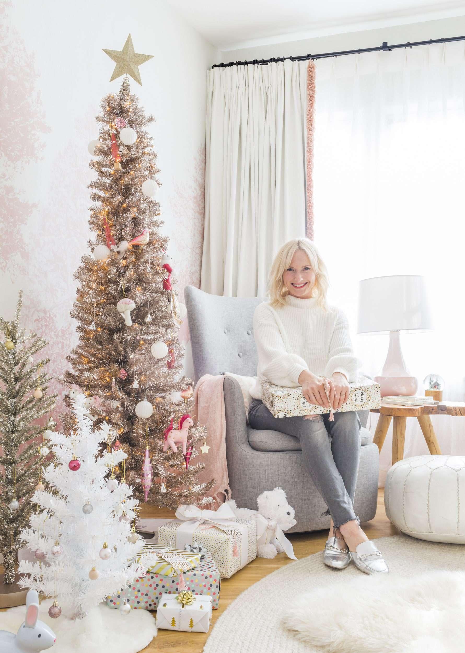 Emily Henderson Blush Rose Gold Christmas 1