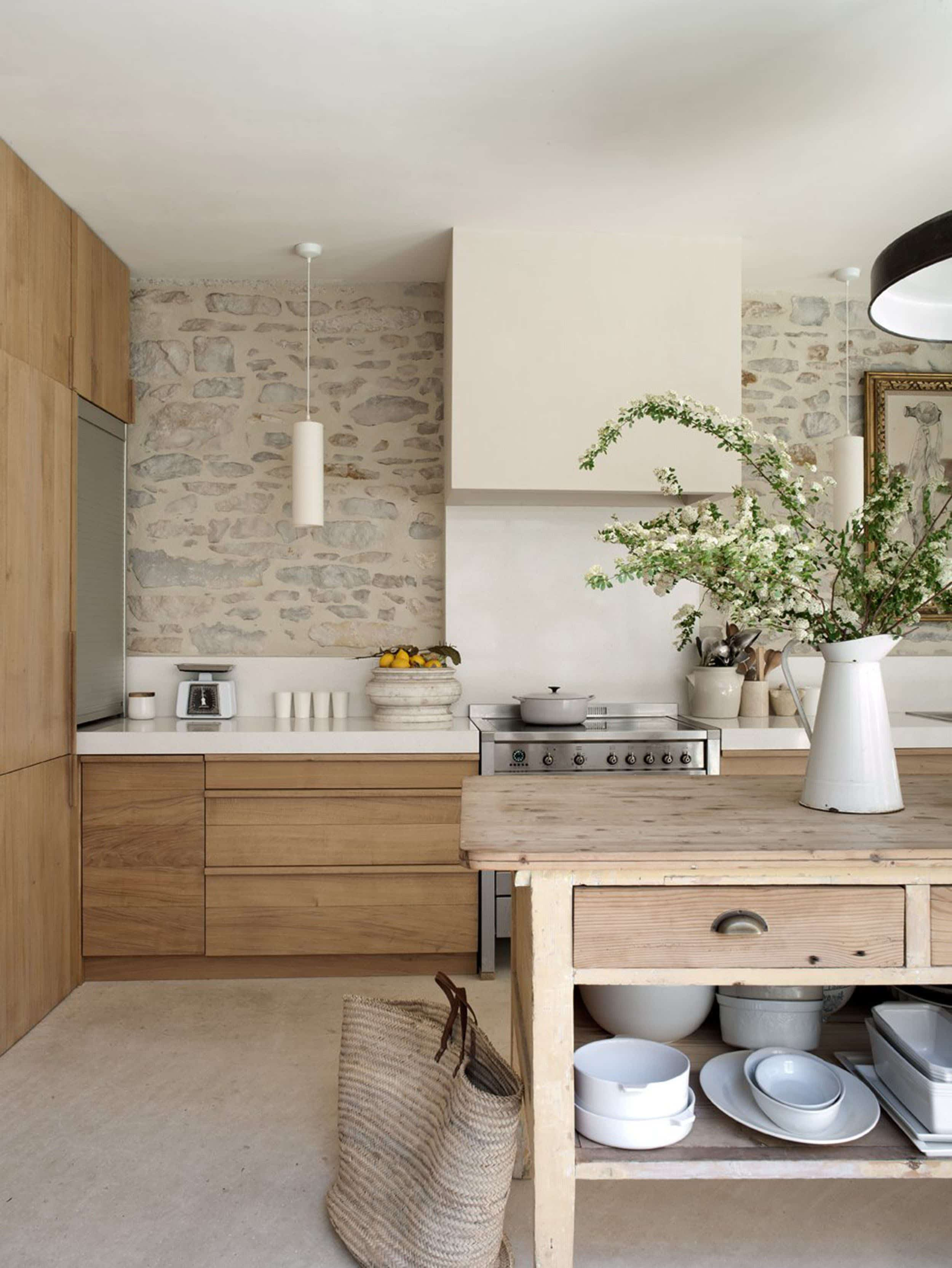 Emily Henderson 2020 Kitchen Trends Tumbled Backsplash 2