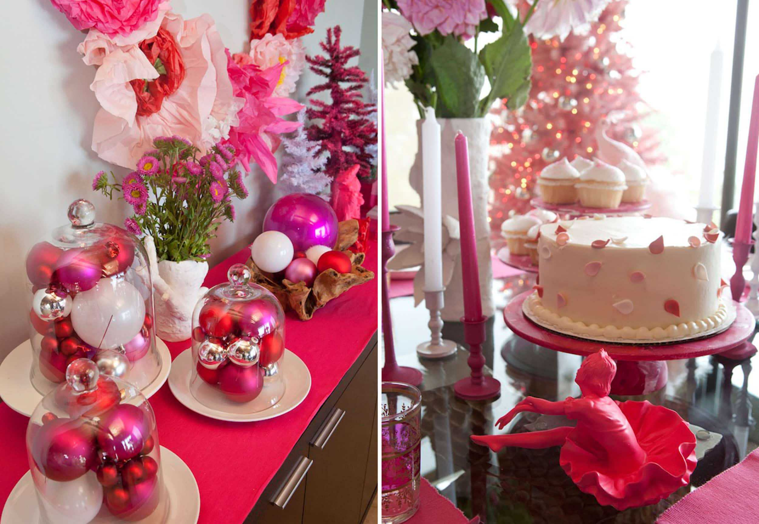 Emily Henderson Weird Holiday Celebrity Hot Pink Table