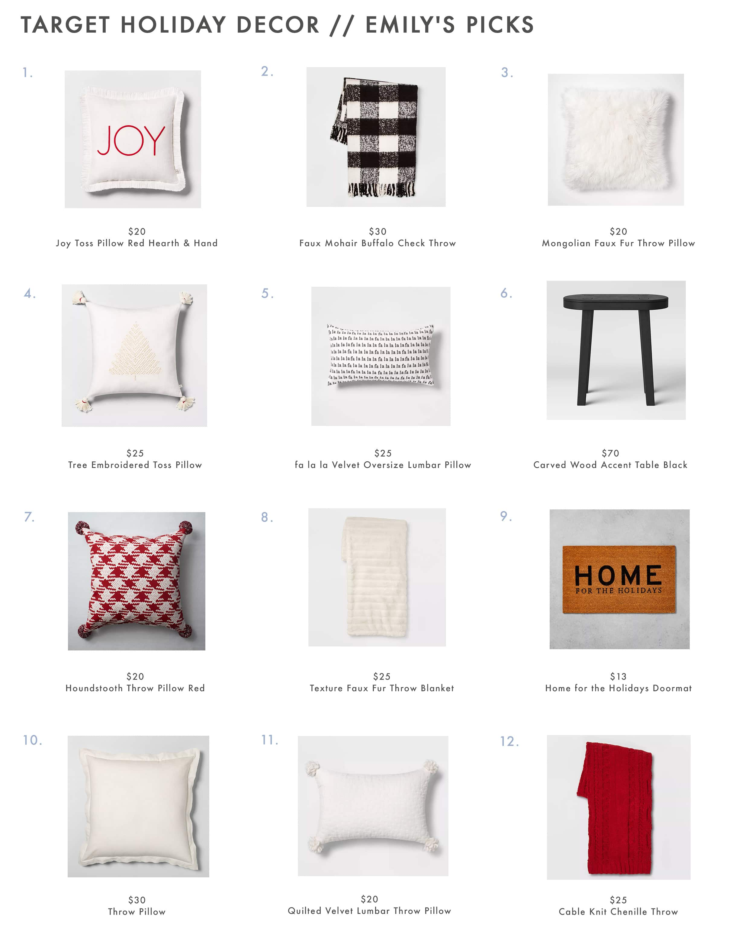 Target Holiday Decor Pillows & Throws