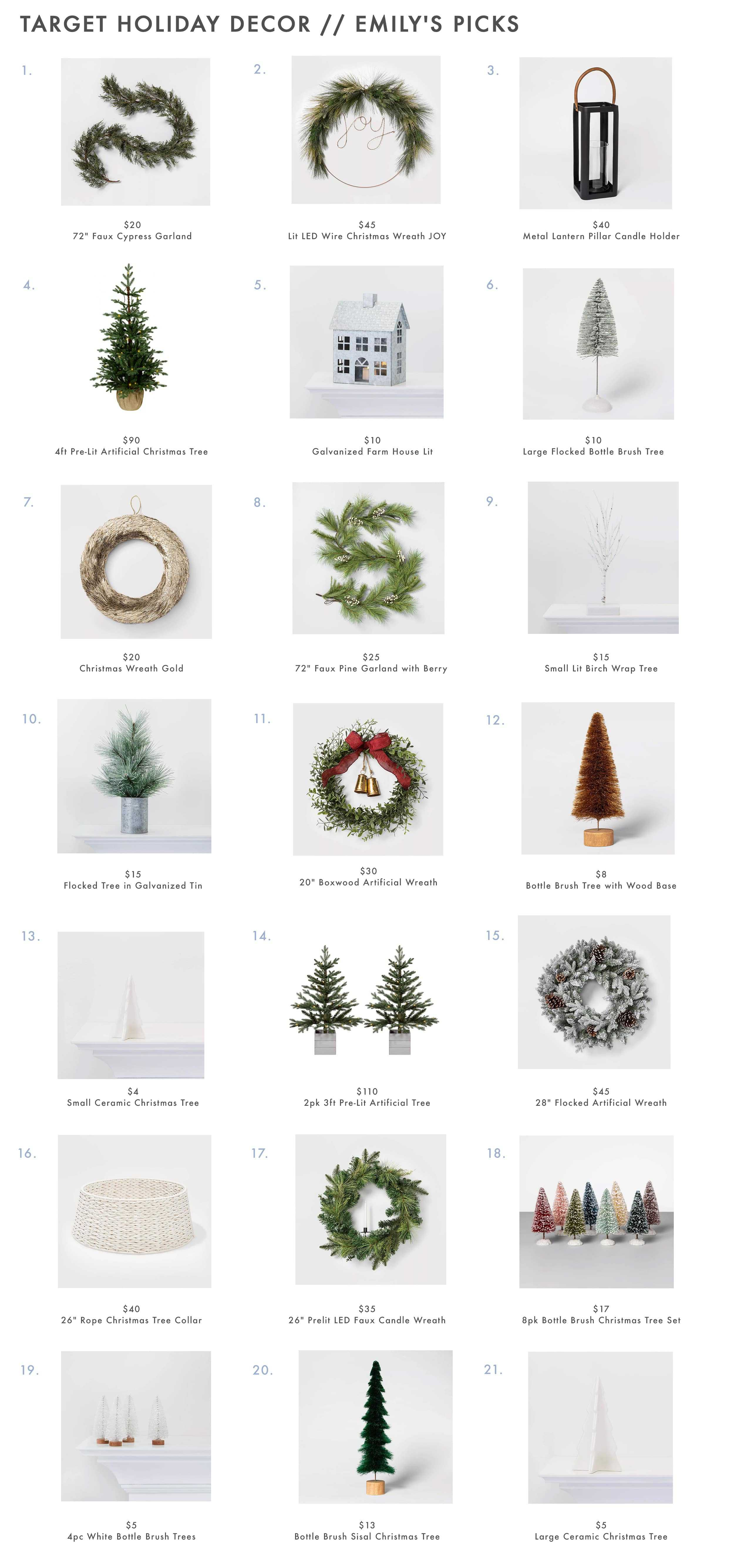 Target Holiday Decor Wreathes Garland