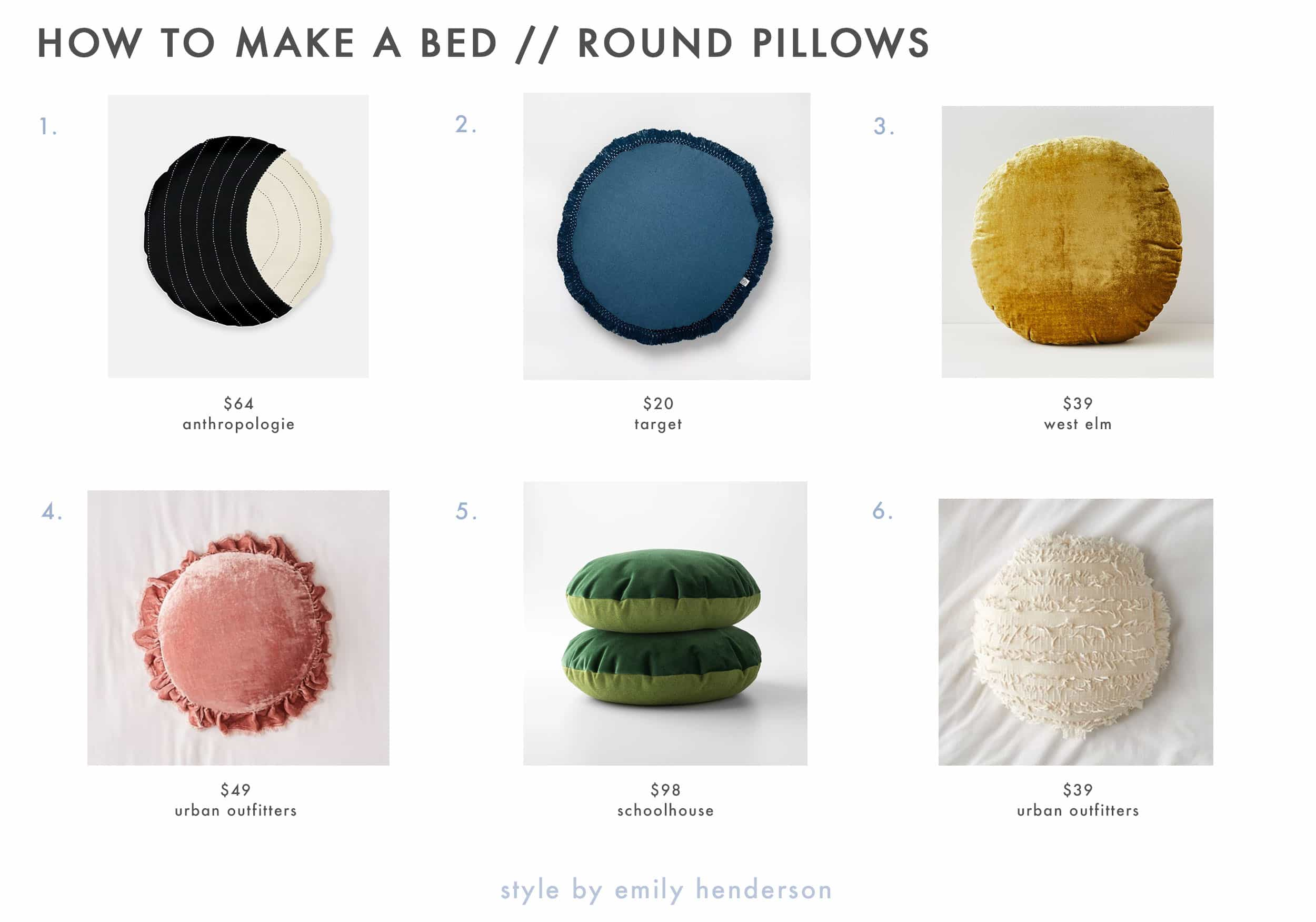 Emily Henderson How To Make A Bed Round Pillows