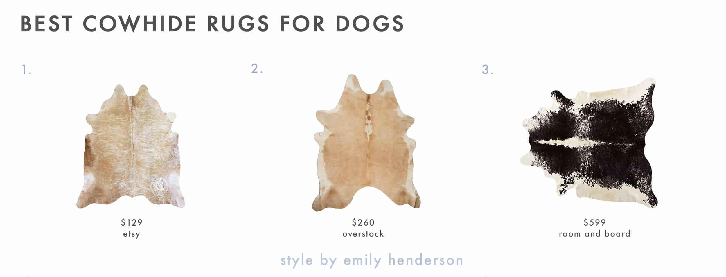 Dog Friendly Cowhide Rugs 1