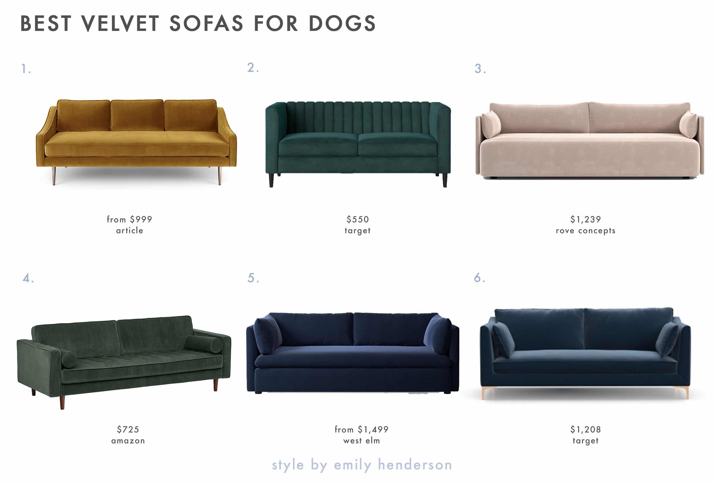 Dog Friendly Velvet Sofas Copy 1