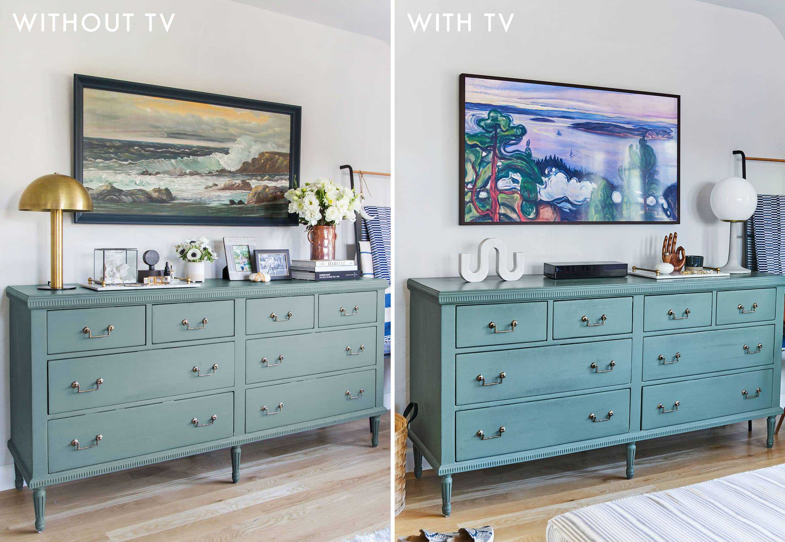 Emily Henderon Bedroom Update With Tv Tv Side By Side