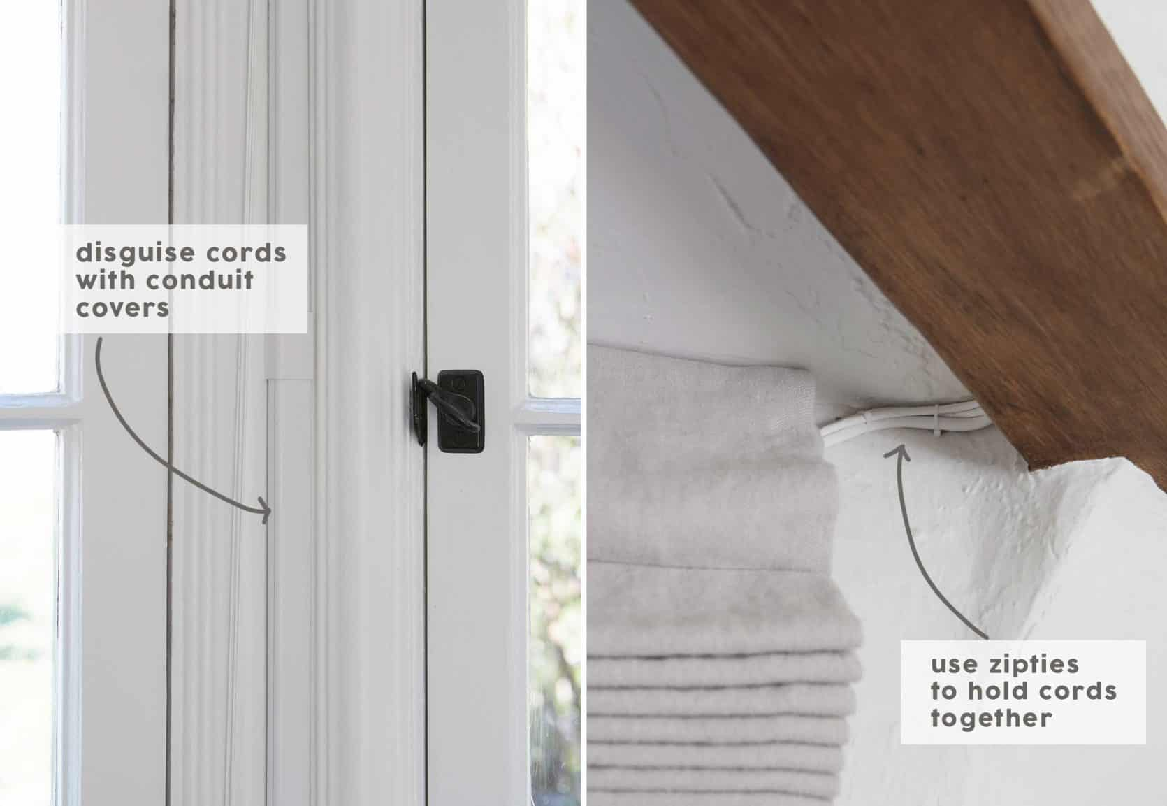 How To Hide Cords And Outlets In Every Room No Photoshop Required Emily Henderson