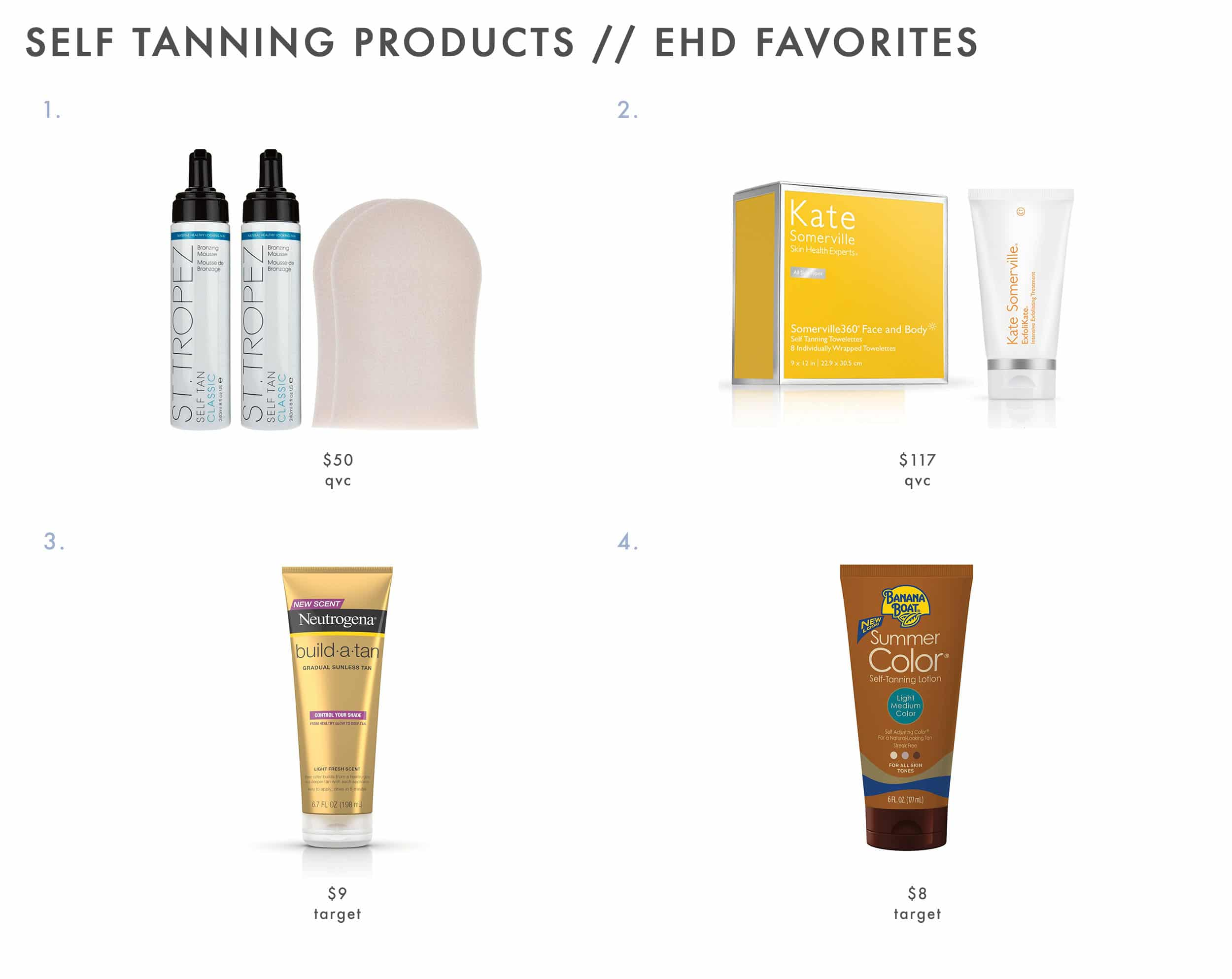 Emily Henderson Self Tanner Products