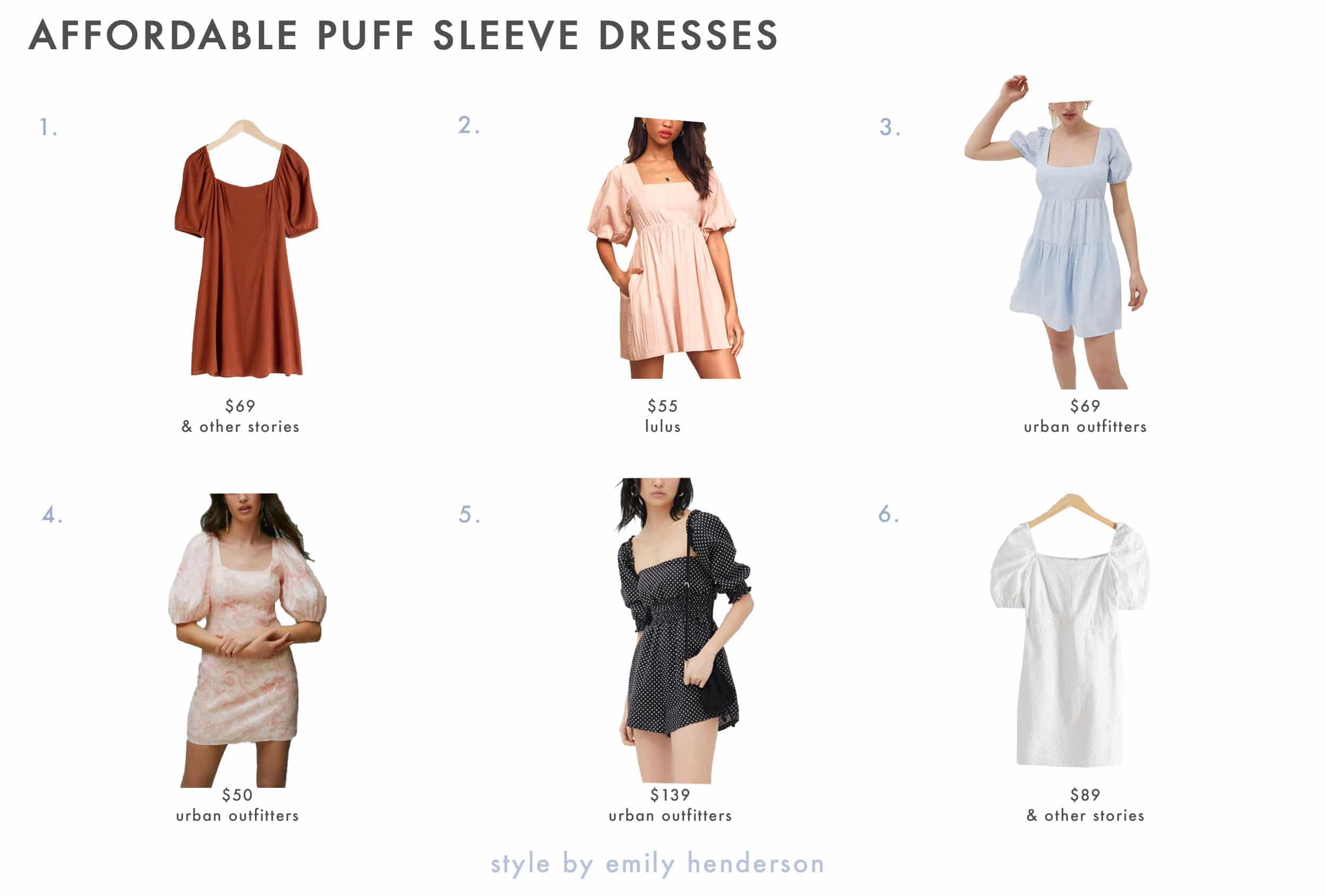 Emily Henderson Spring Dresses Puff Sleeve