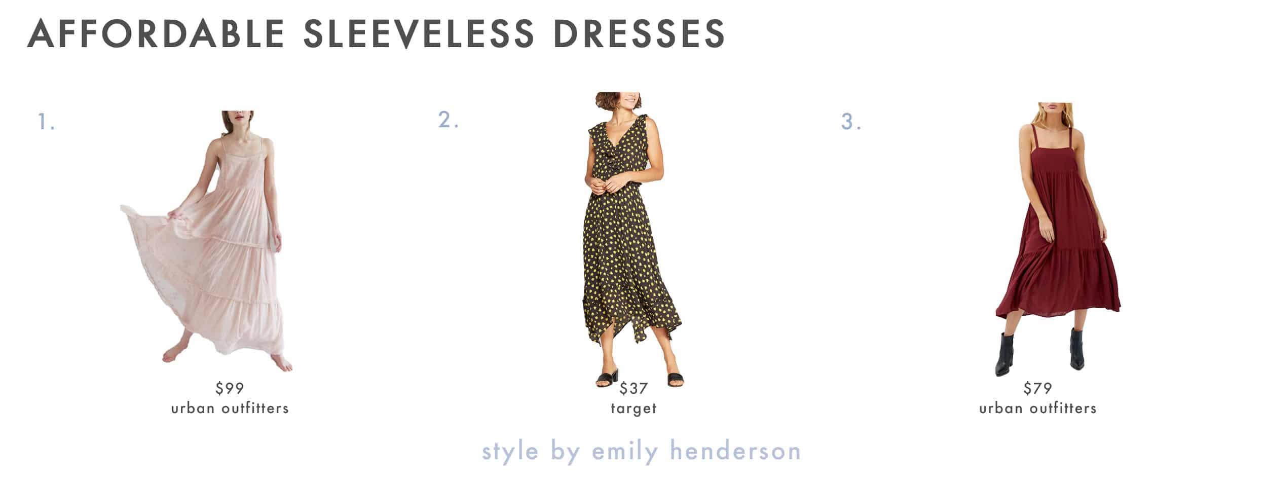 Emily Henderson Spring Dresses Sleeveless