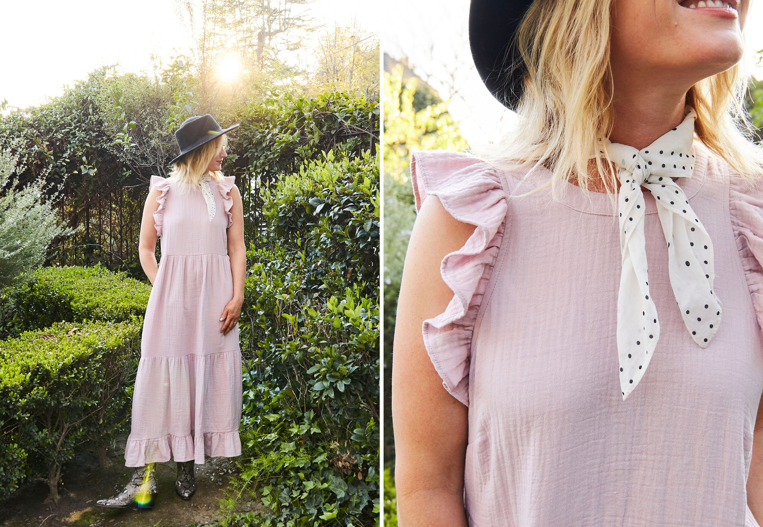 Emily Henderson Affordable Spring Dresses Pink Side By Side