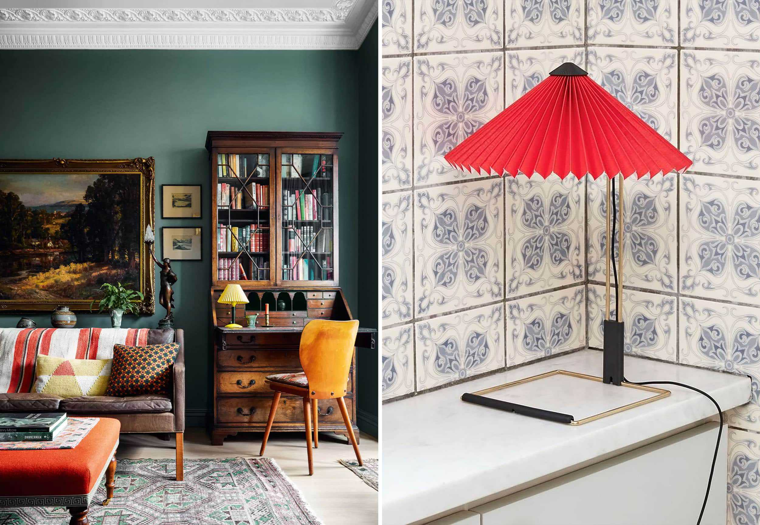 Emily Henderson Granny Chic Lampshades Side By Side 2