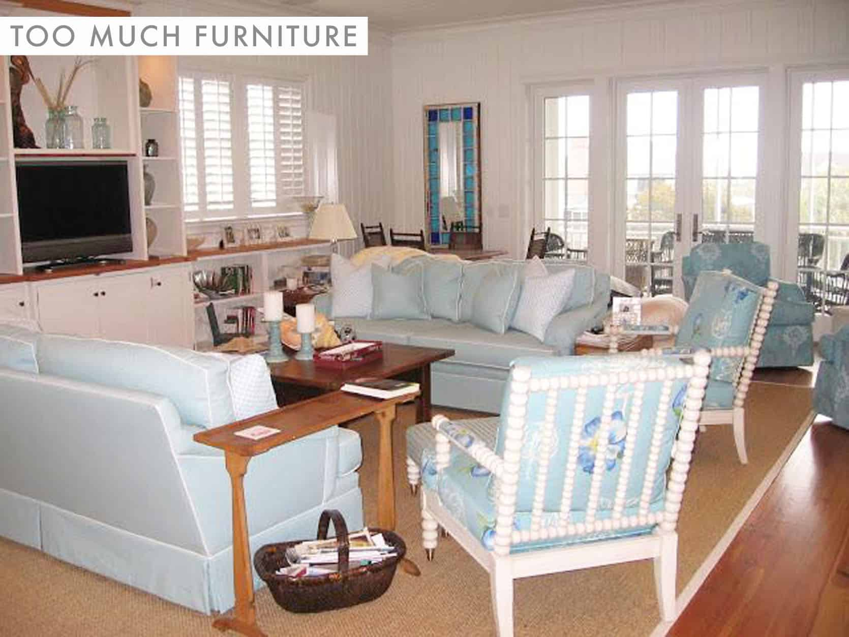 DESIGN MISTAKE: Too Much Furniture In One Room (With Real Life