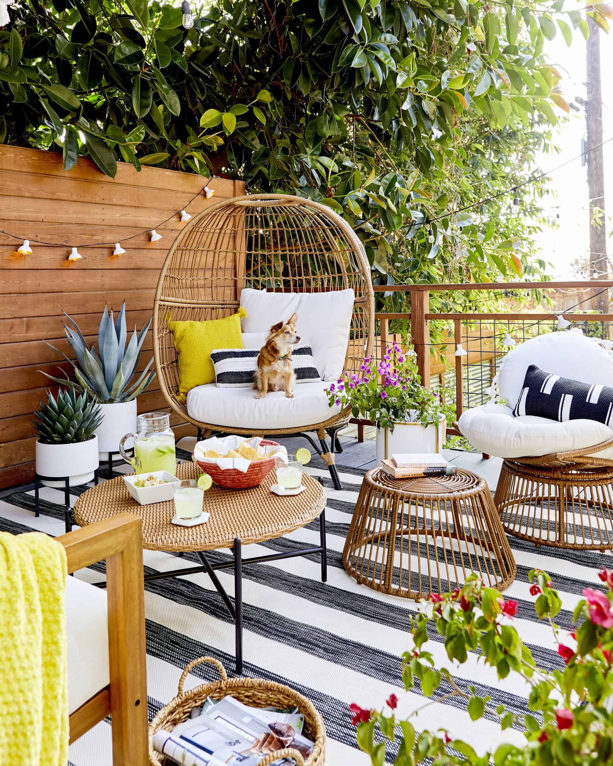 How To Style Out Your Outdoor Space So You Ll Actually Use It No Matter How Big Or Small It Is Emily Henderson