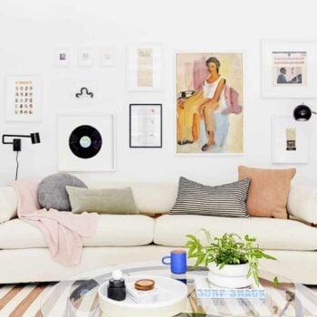 Printable Gift Living Room SET of 2 One Line Drawing Digital Prints Bedroom Wall Decor Family Room Wall Art Digital Downloads