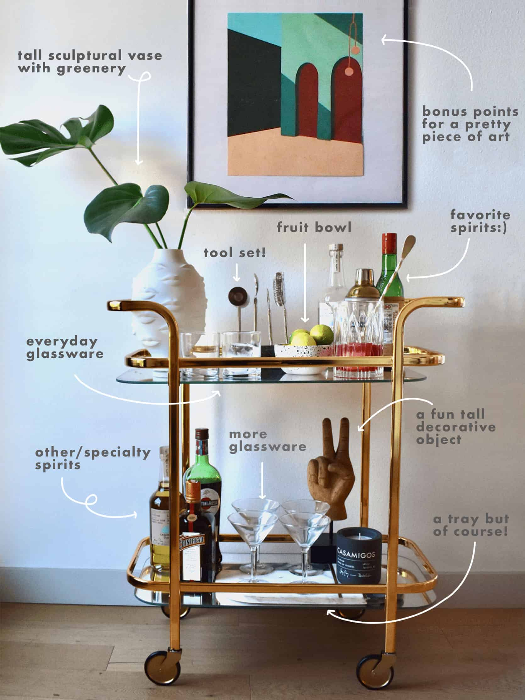 The No Fail Ehd Approved Bar Cart Styling Formula Just In Time For The Weekend Emily Henderson