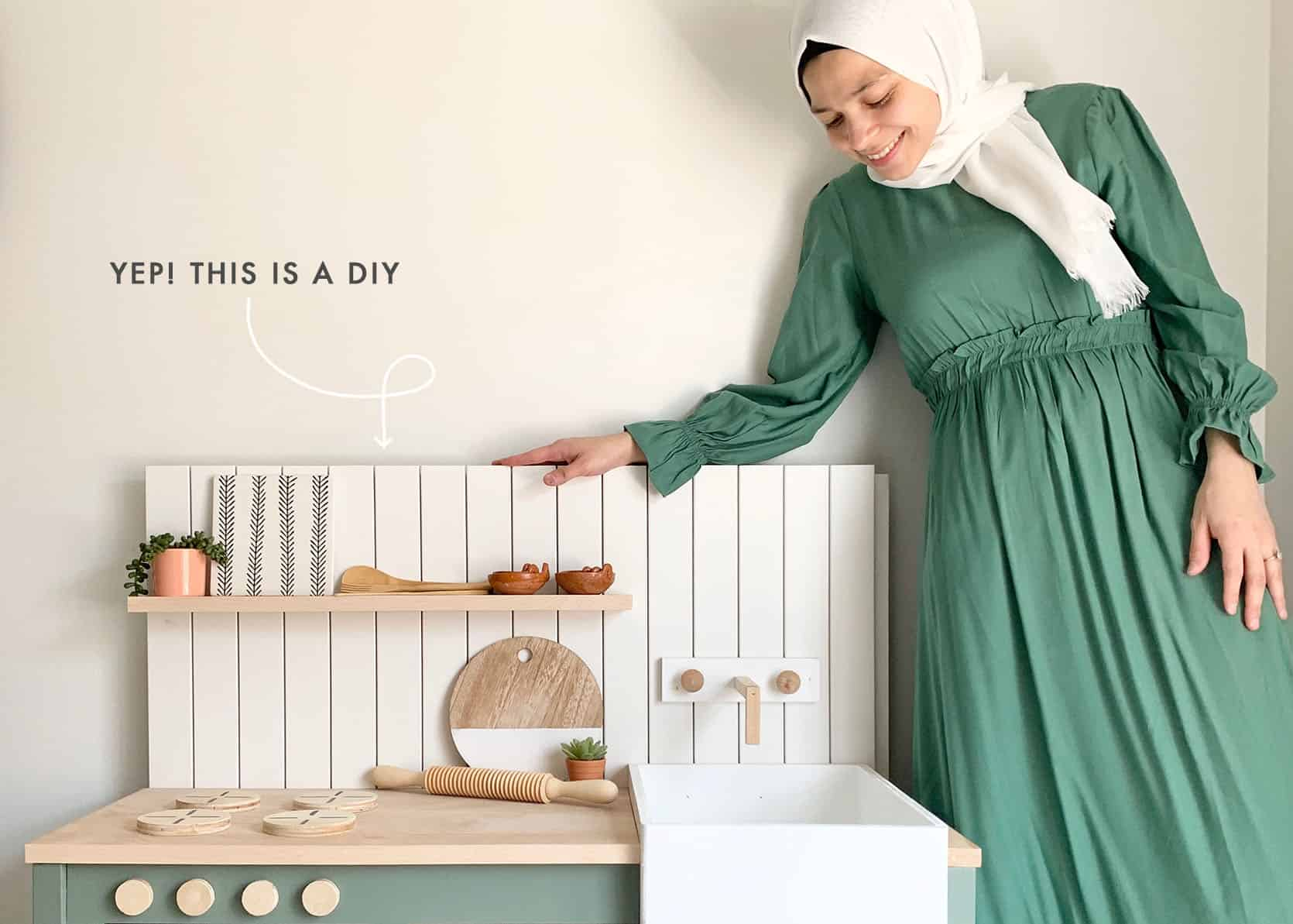 """Saving For Your Dream Kitchen"""" DIY A Mini Version For Your Kids (Imelda's Here To Show You How)"""