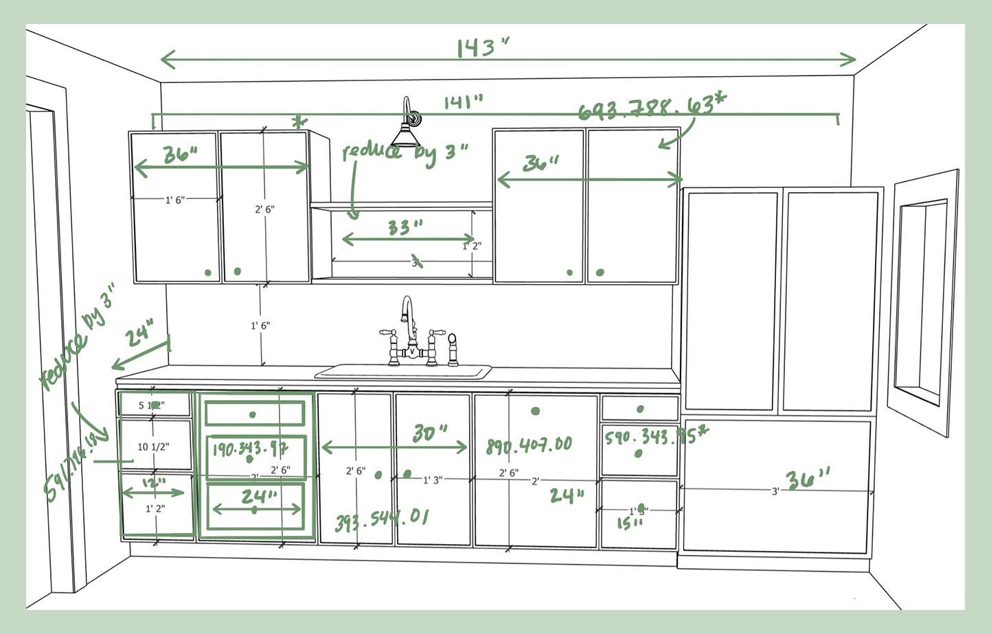 Sara's Dream Galley Kitchen Cabinet Layout IKEA Boxes, A Cabinet ...