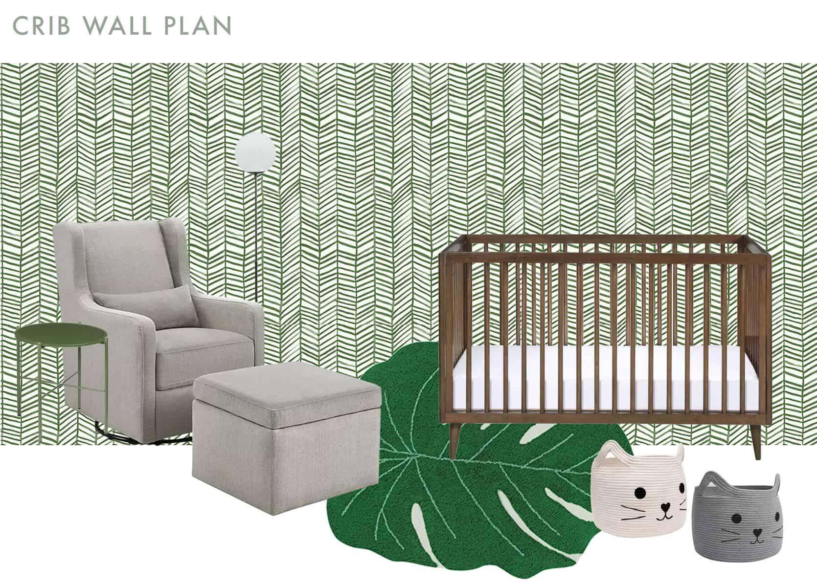 Emily Henderson Cailtin Nursery MOTO Update Crib Wall