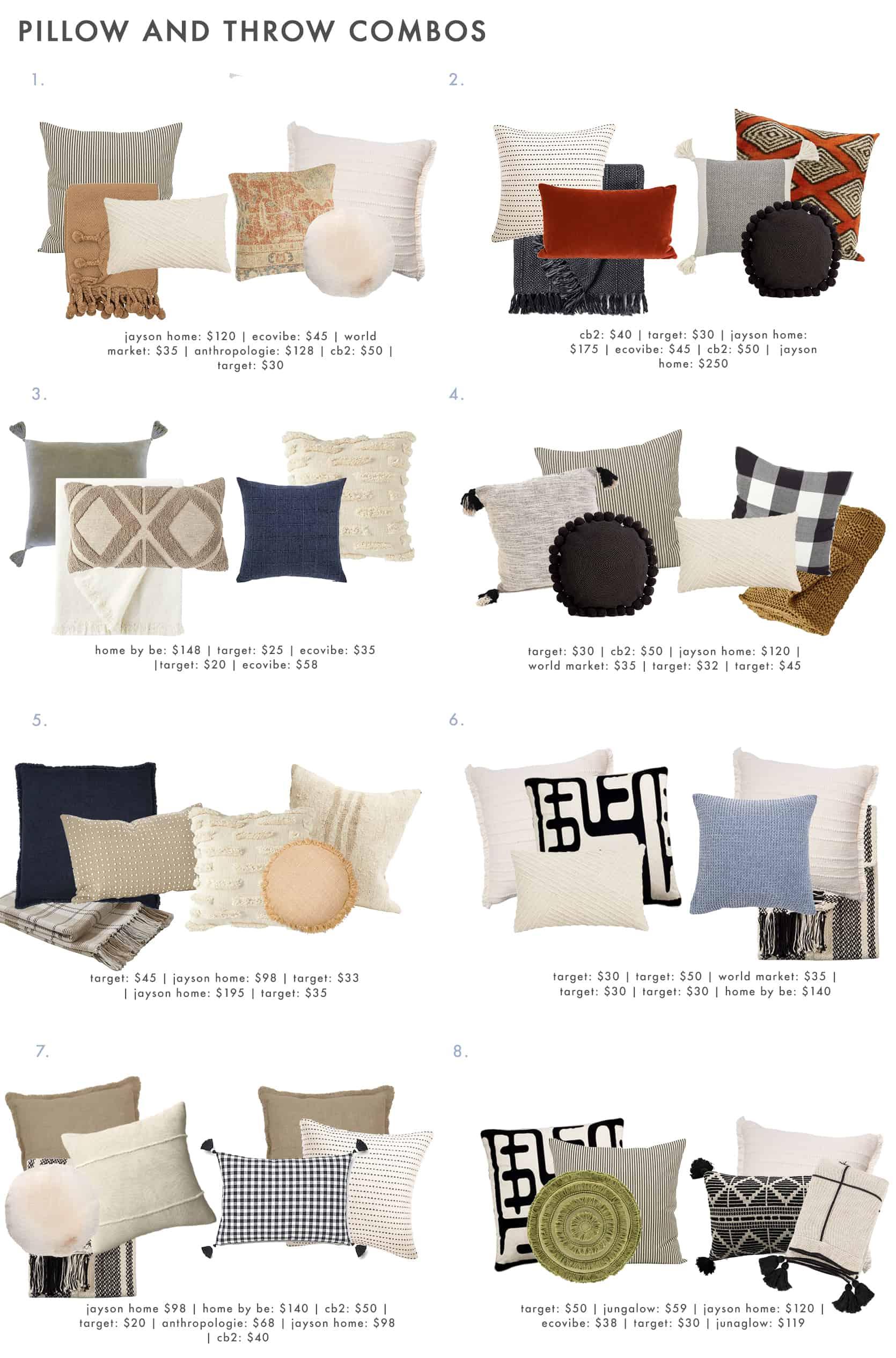 Pillow Throw Combo Roundup