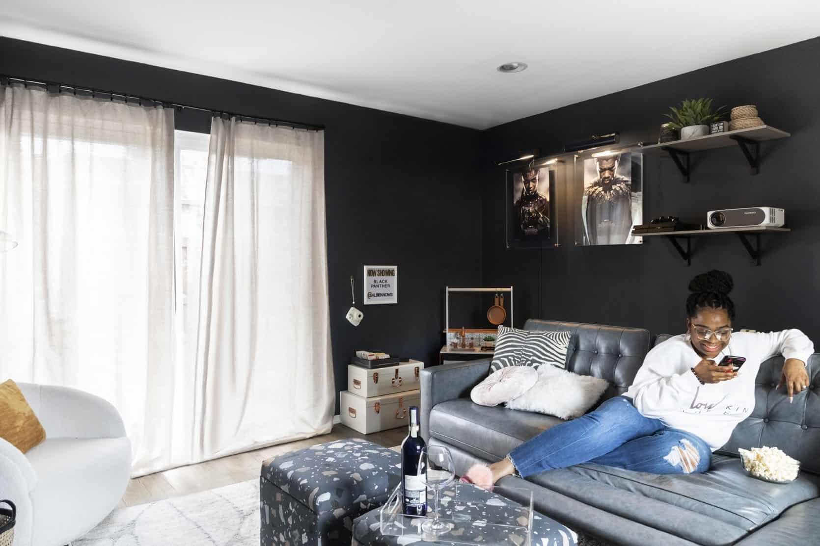 Emily Henderson Albie Buabeng Media Room Reveal 3