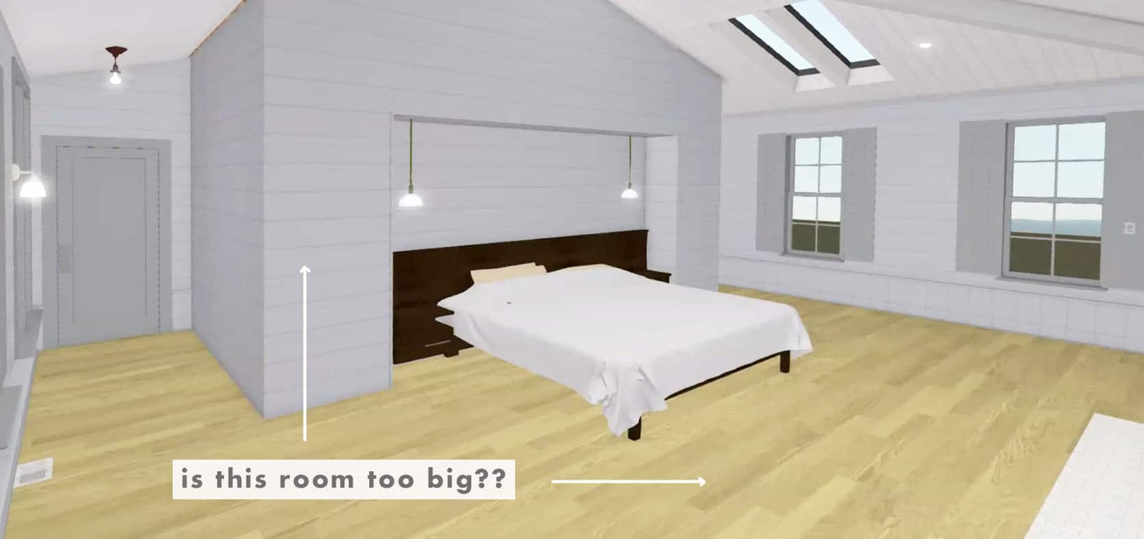 Emily Henderson Farmhouse Decisions Bedroom Too Large 1