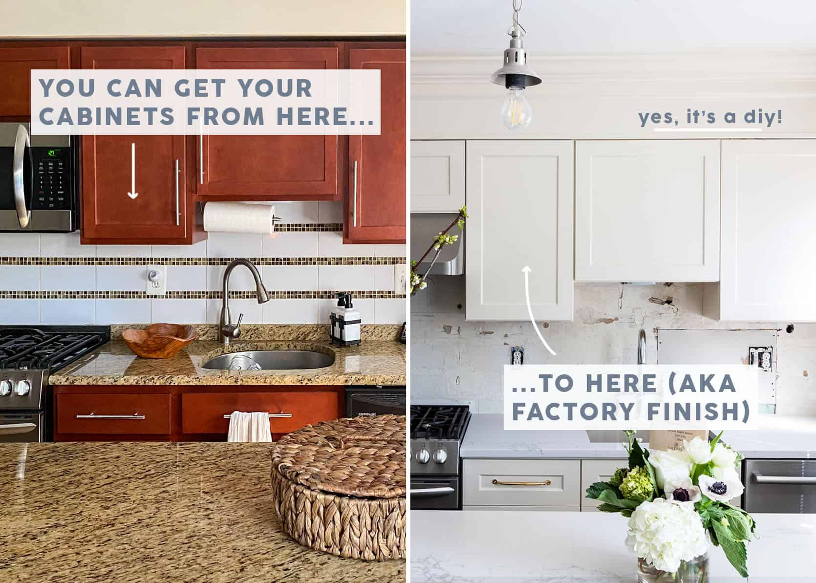 The Right Way To Paint Your Kitchen Cabinets And Save Factory Finish Guaranteed Emily Henderson