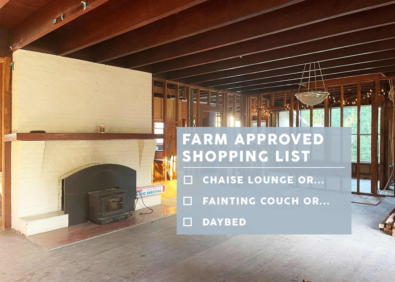 "My Farmhouse ""Ok To Shop"" List – Chaise Lounge, Fainting Couch, Daybed Or A Visually Open-Backed Sofa… I DOVE DEEP"