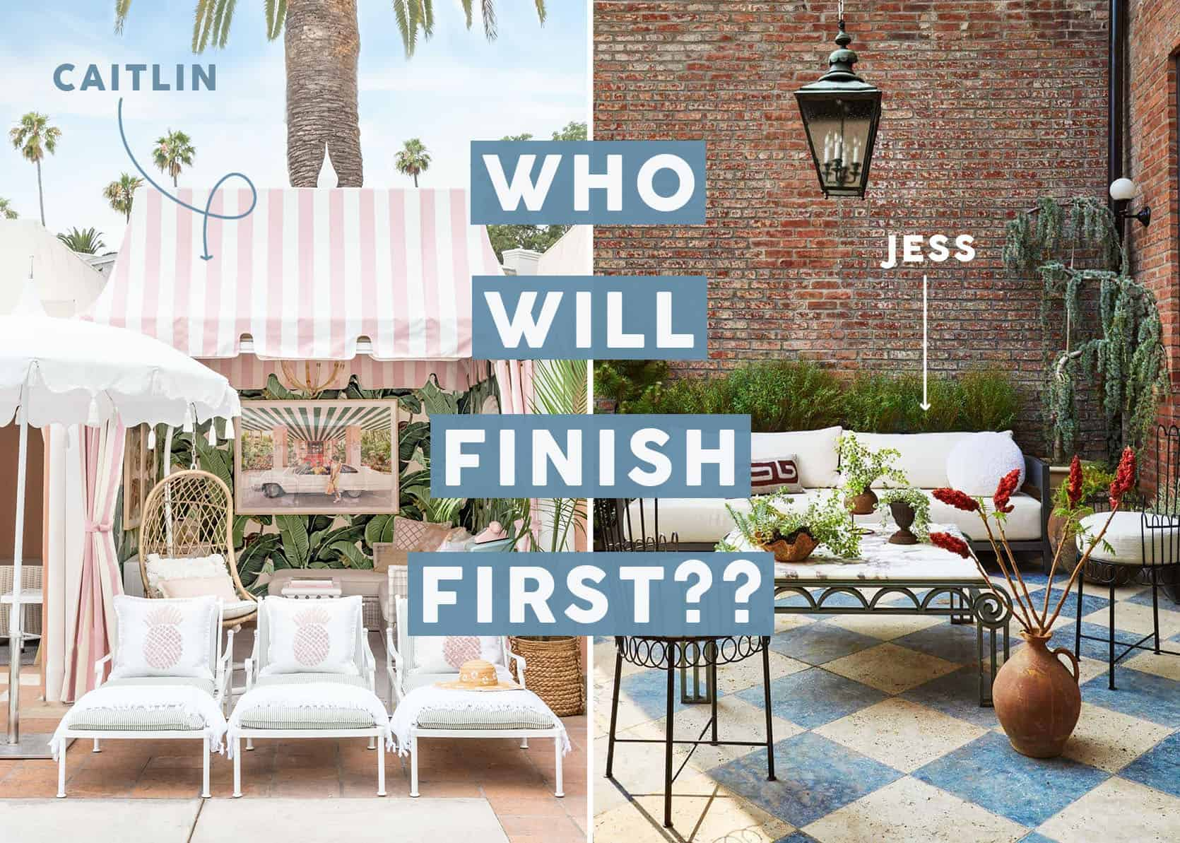 Race to 7/20: Jess and Caitlin Are Racing To Decorate Their, Let's Say, Challenging Balconies… Here are The Plans