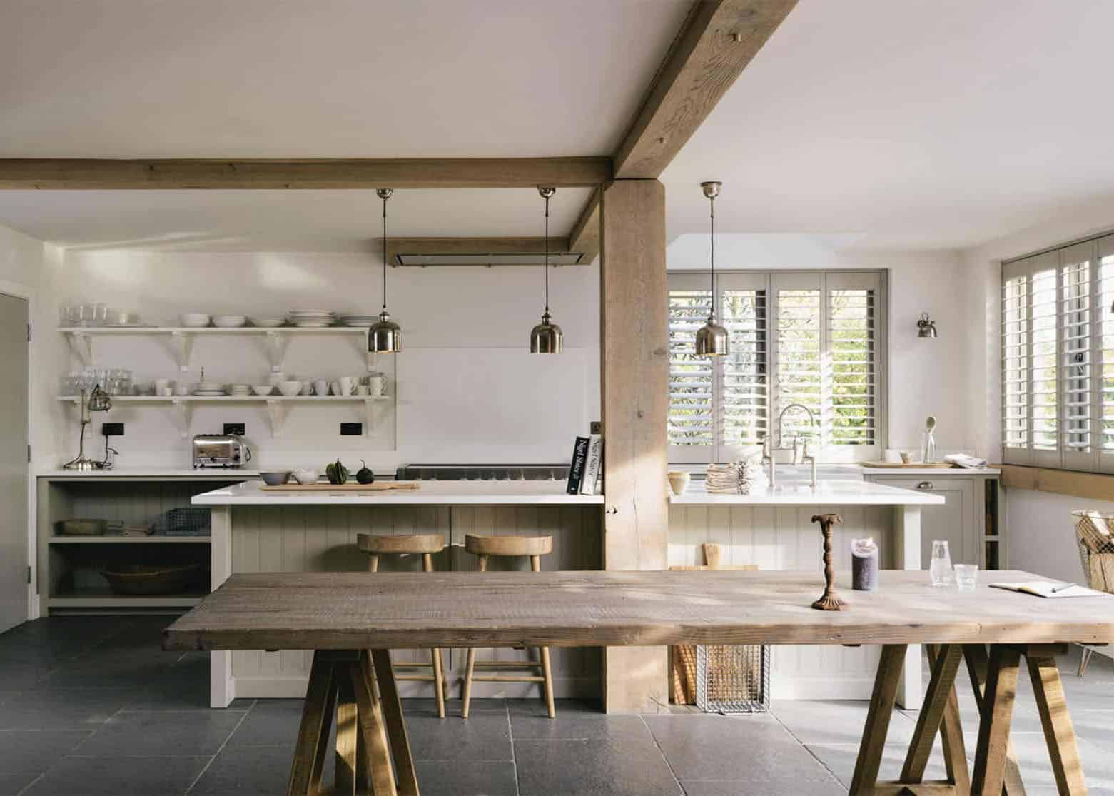 Is It Worth Moving The Load-Bearing Beam From The Middle Of The Farmhouse Kitchen + 4 Unique Options If We Can't