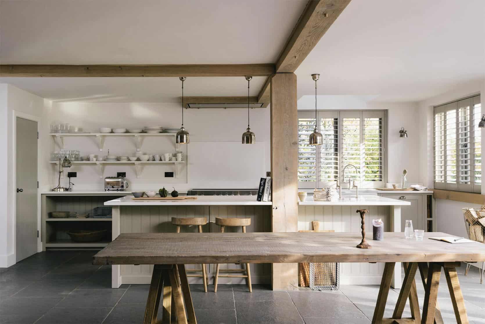 Emily Henderson Farmhouse Designing Around Beams deVOL