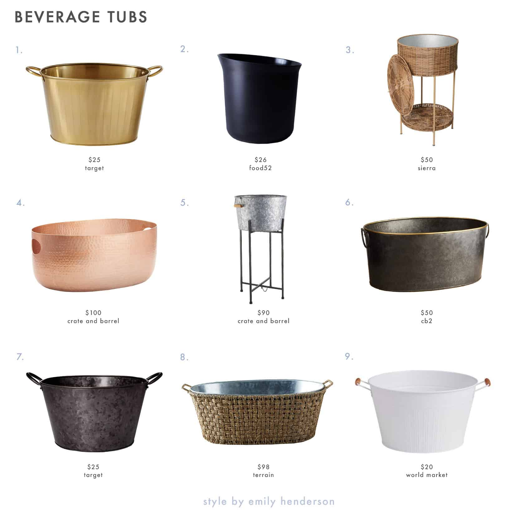 Emily Henderson Outdoor Dining Beverage Tubs 1