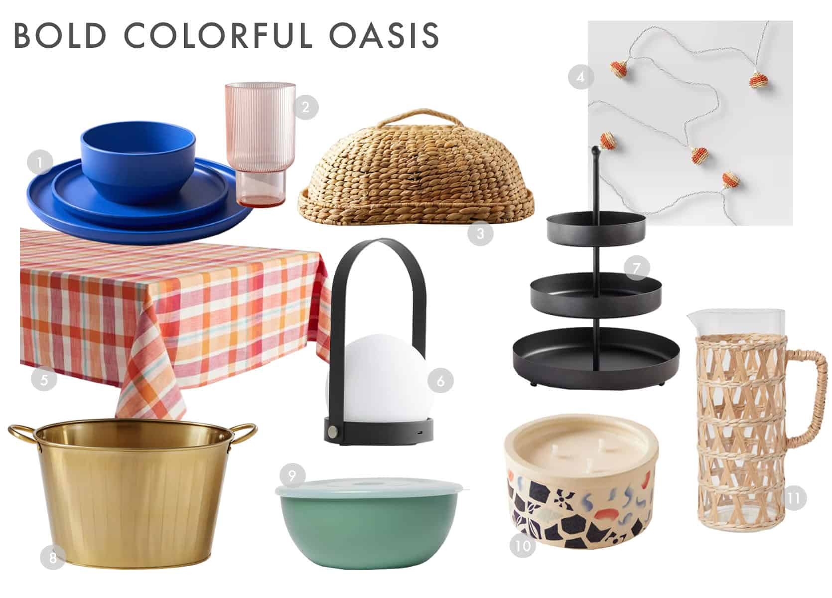 Emily Henderson Outdoor Dining Bold Colorful Combo