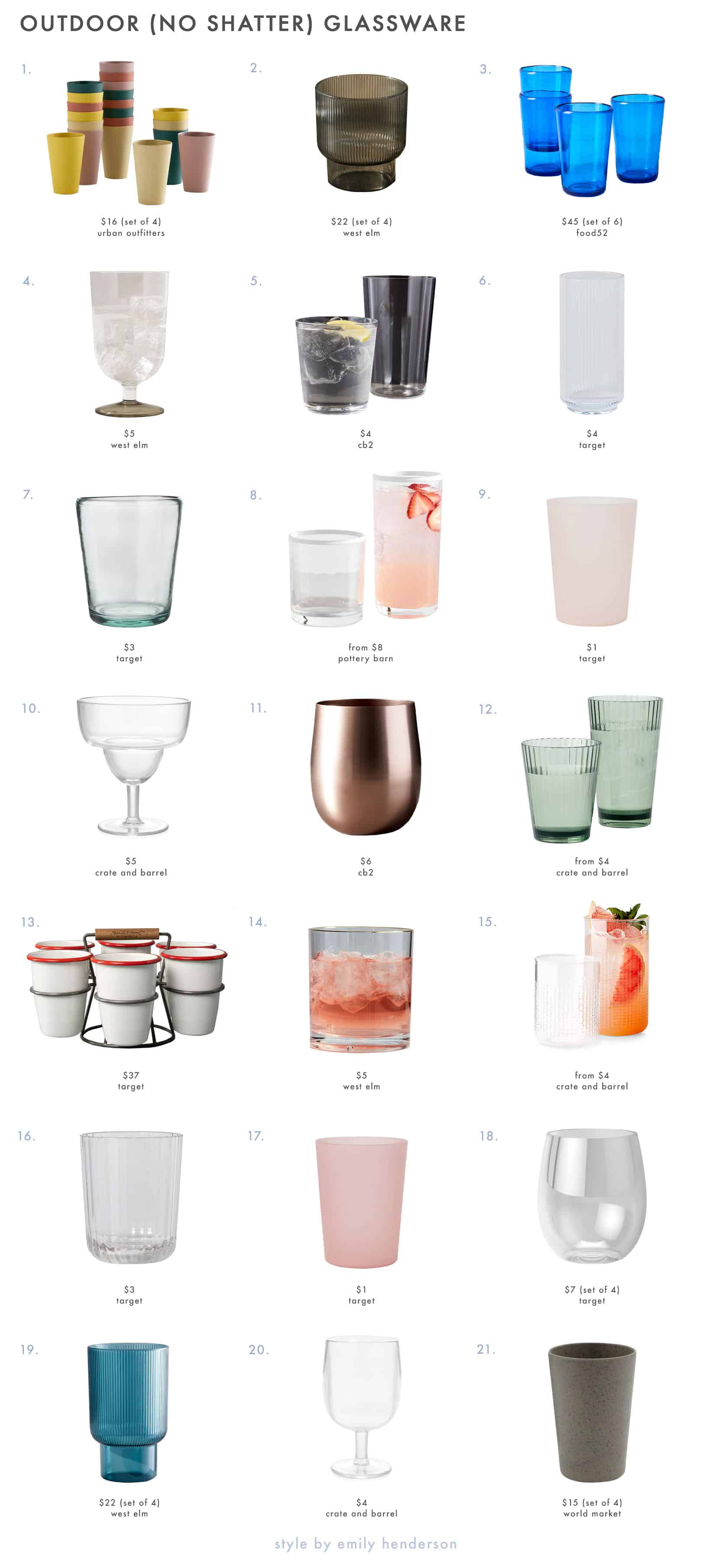 Emily Henderson Outdoor Dining Cups