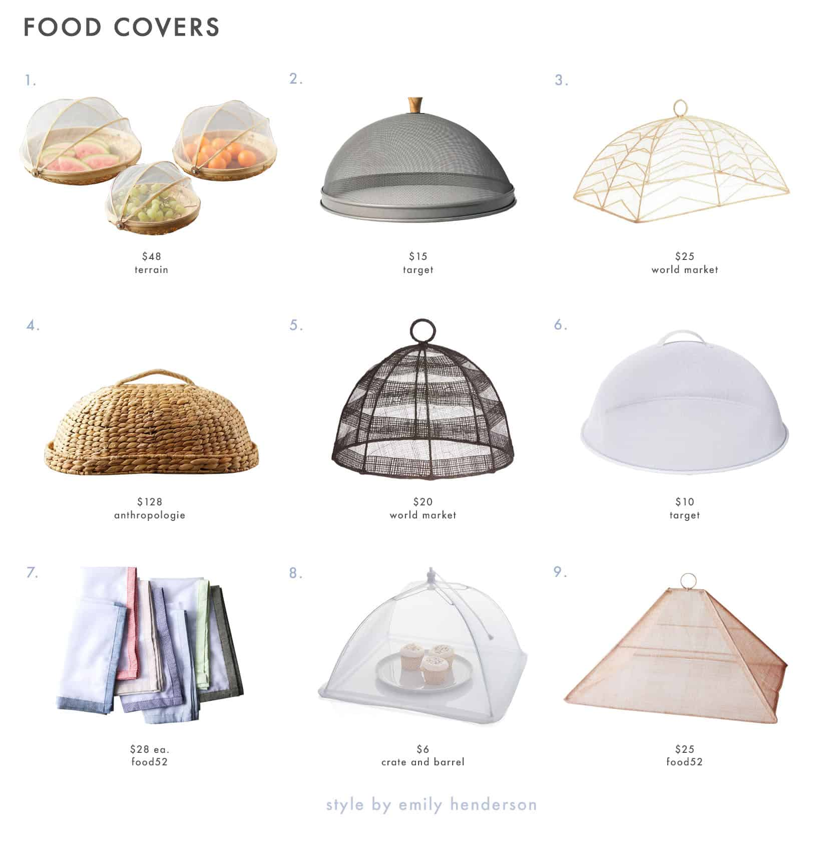 Emily Henderson Outdoor Dining Food Covers