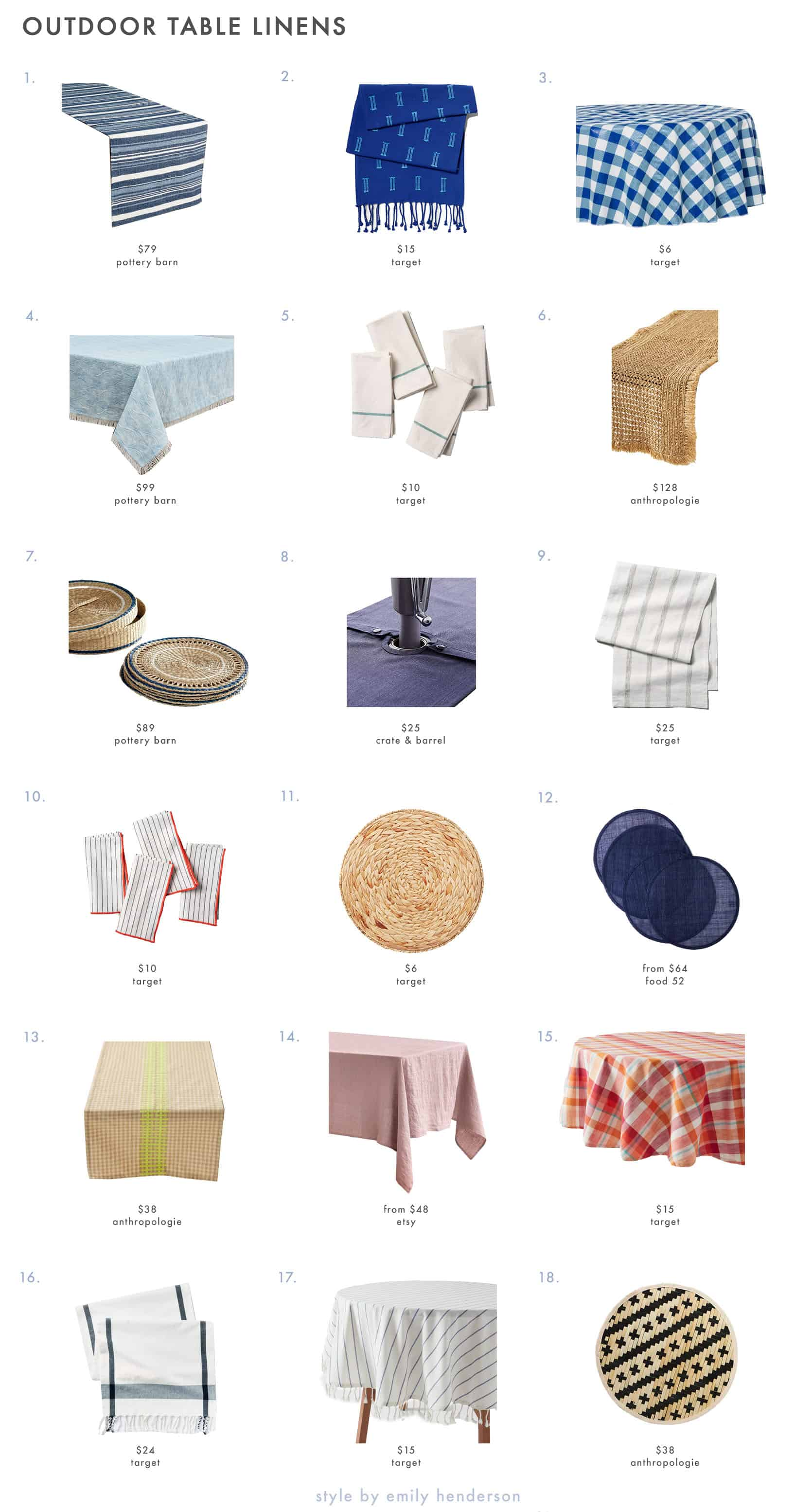 Emily Henderson Outdoor Dining Table Linens 1