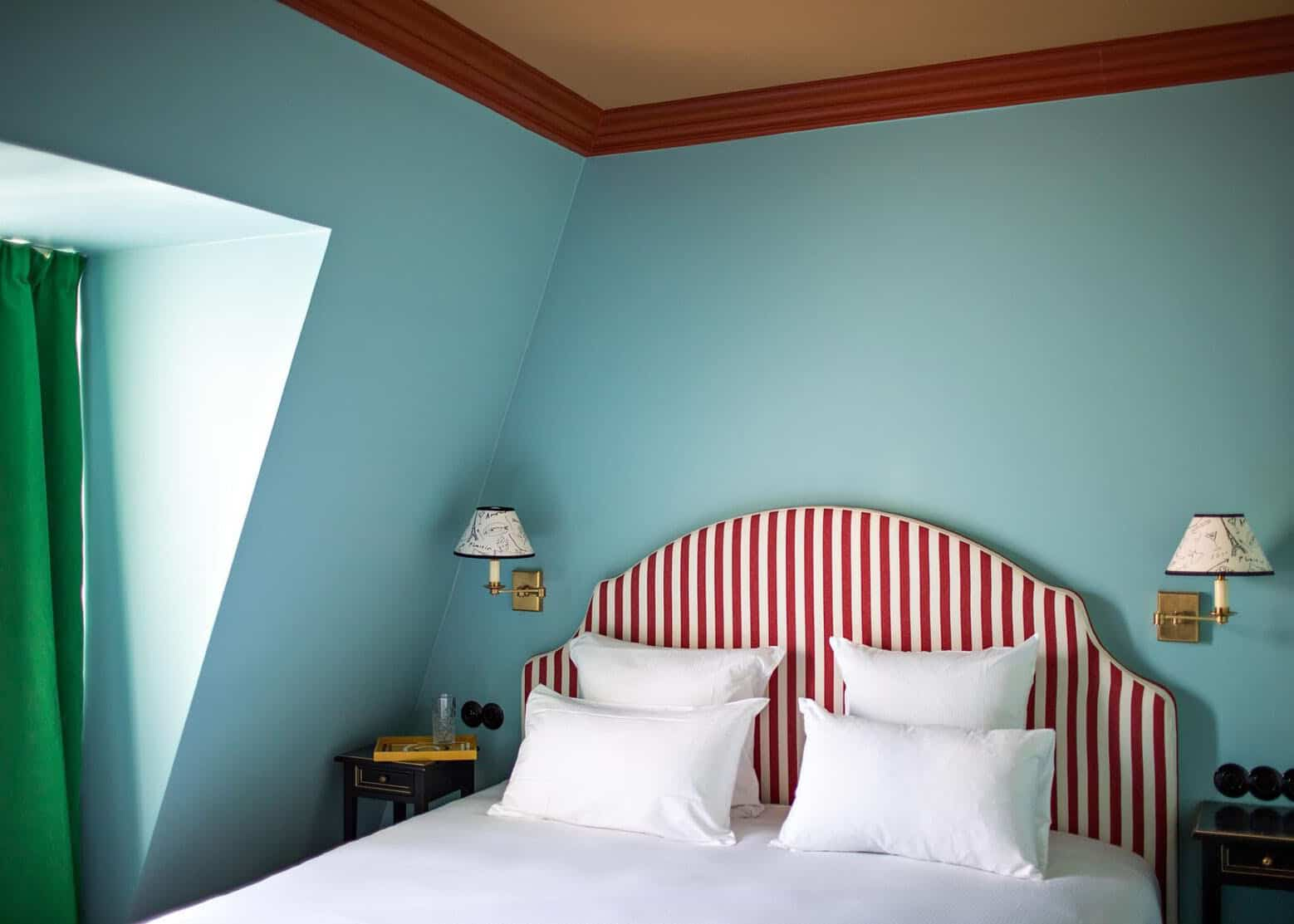 """Blue & Red IN BED! Is This The Next Bedroom Color Trend"""" (+ The No-Fail Formula Used To Make It Work In 28 Different Rooms)"""