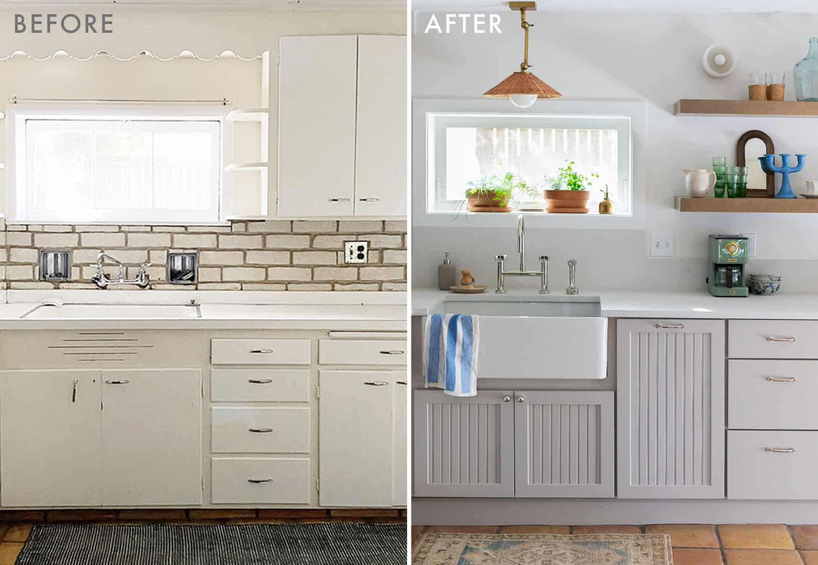 Emily Henderson Coco Kelley Basement Kitchen Reveal Before and After 1