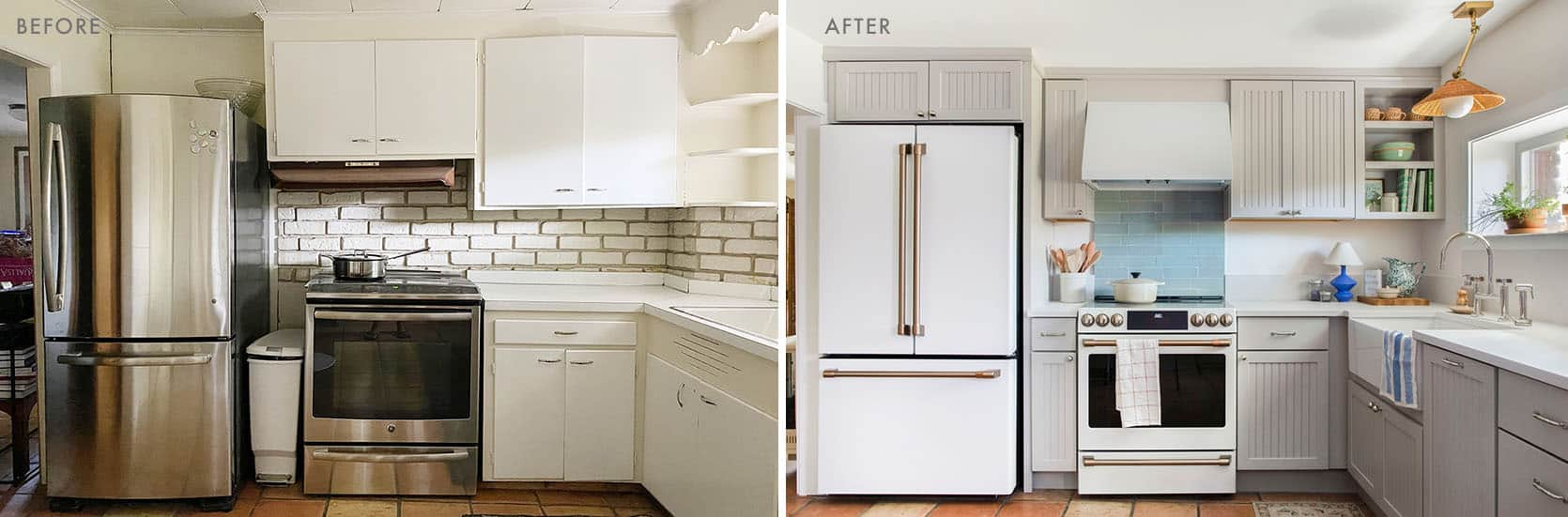 Emily Henderson Coco Kelley Basement Kitchen Reveal Before and After 2