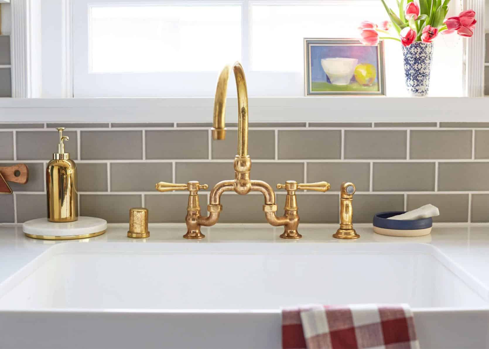 Unlacquered Brass Faucets, Unlacquered Brass Bathroom Faucet