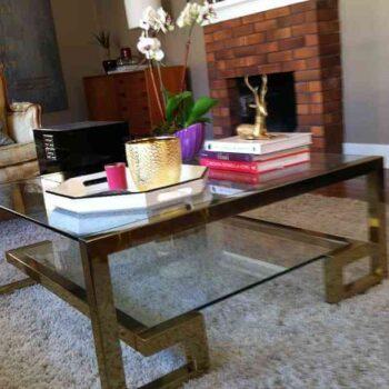 brass regency table