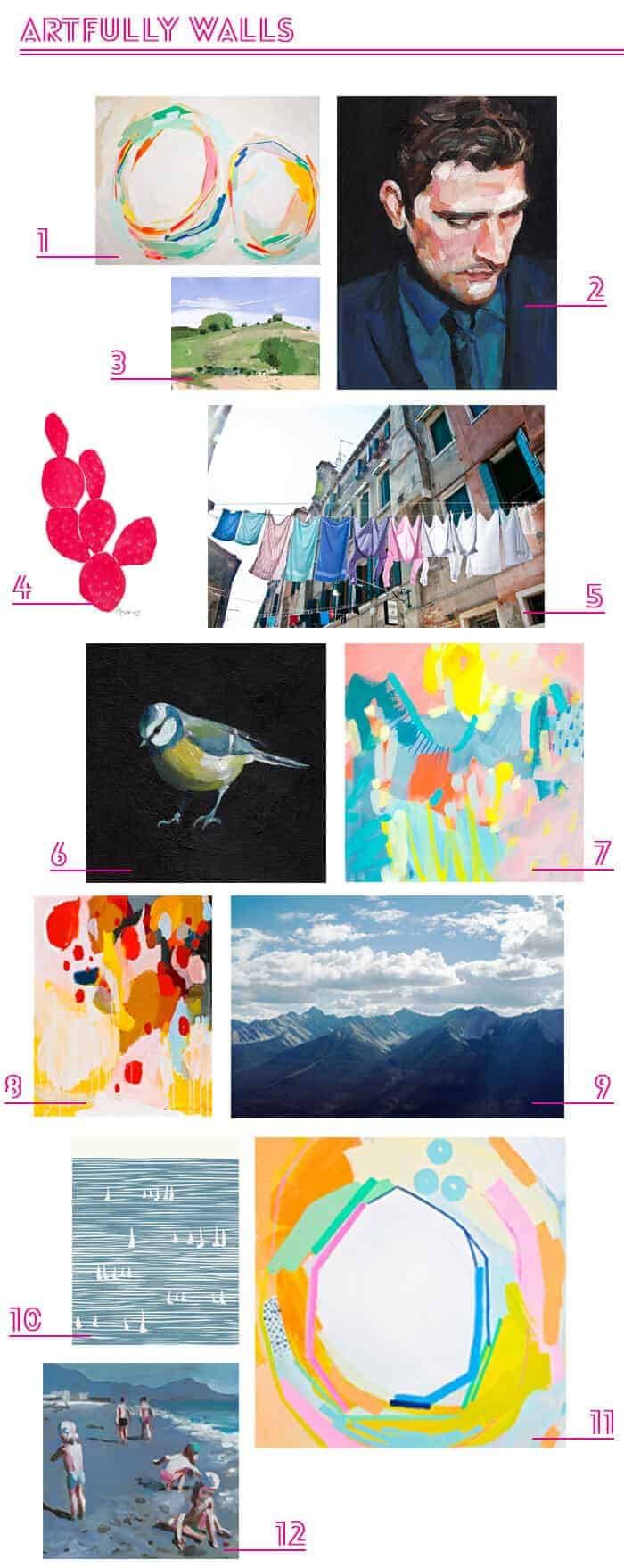 Artfully Walls Roundup_Online Art