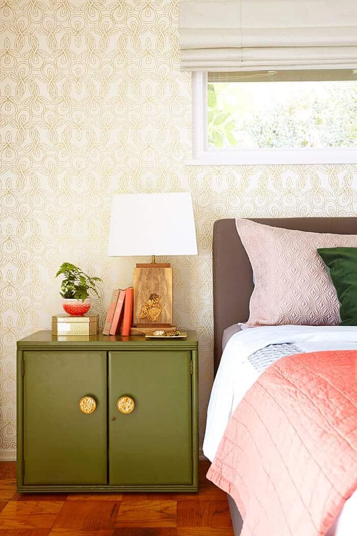 green-nightstand